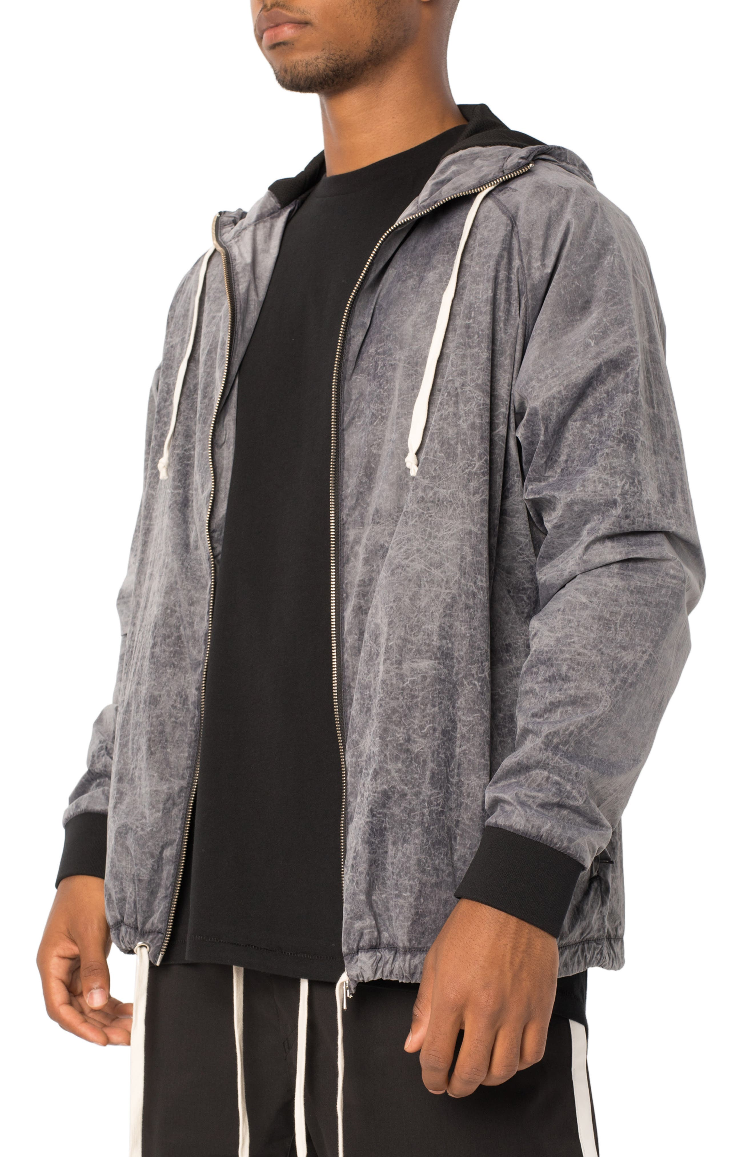 Storm Spray Hooded Jacket,                             Alternate thumbnail 3, color,                             SCRATCHED GREY
