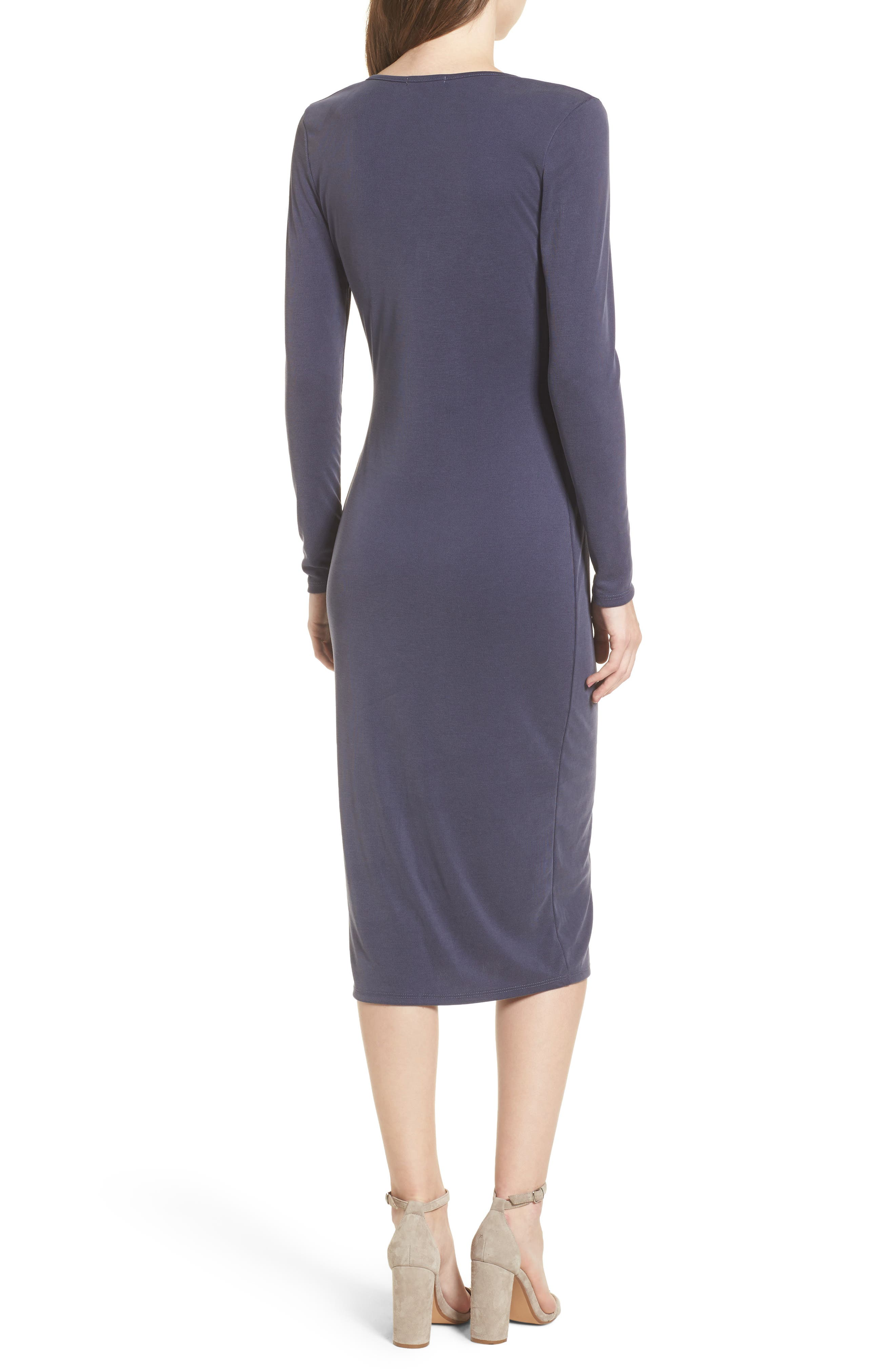 Snap Front Henley Dress,                             Alternate thumbnail 5, color,