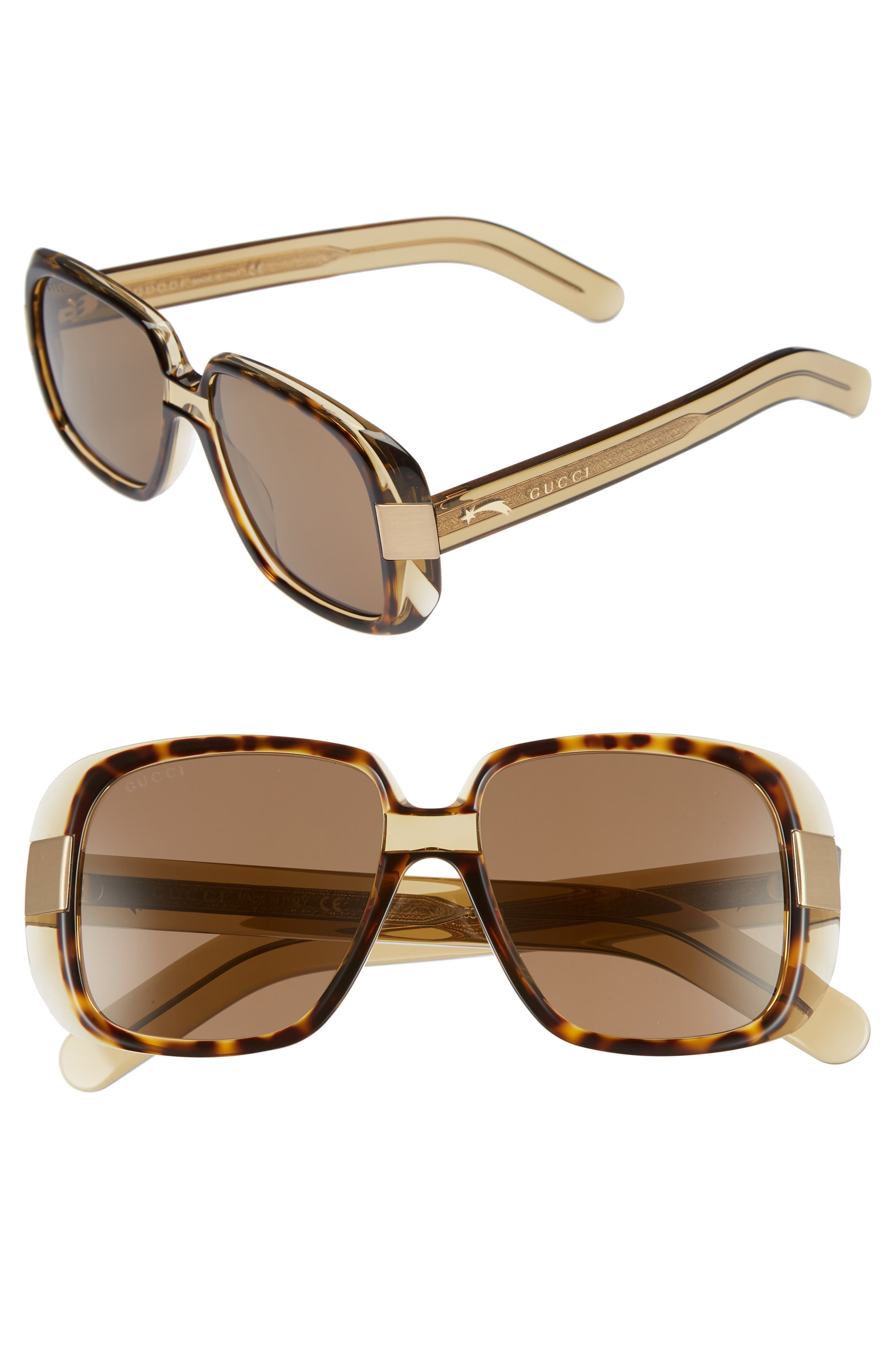 Cruise 51mm Square Sunglasses,                             Main thumbnail 1, color,