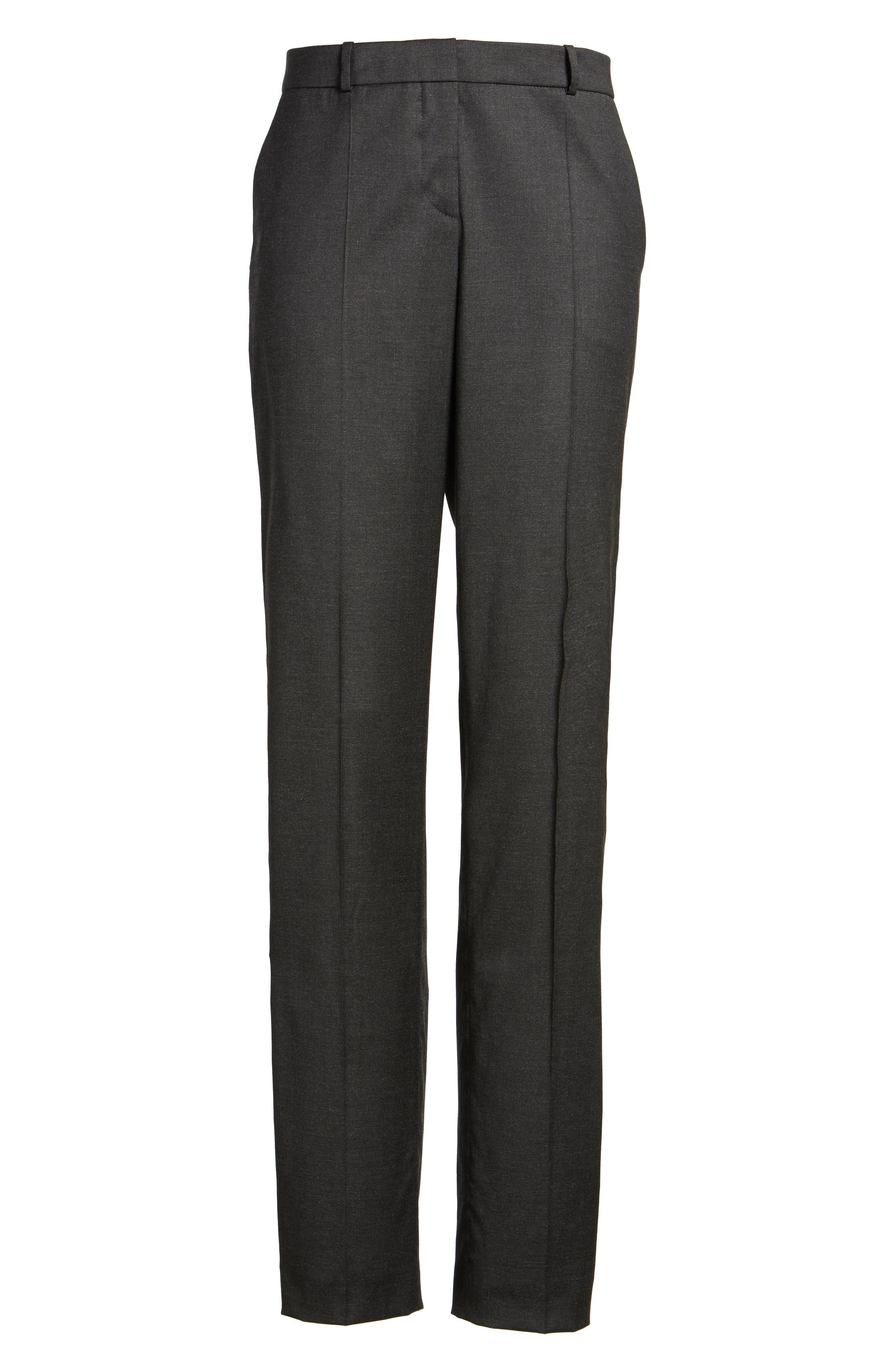 Tilunana Stretch Wool Blend Suit Trousers,                             Alternate thumbnail 6, color,                             094