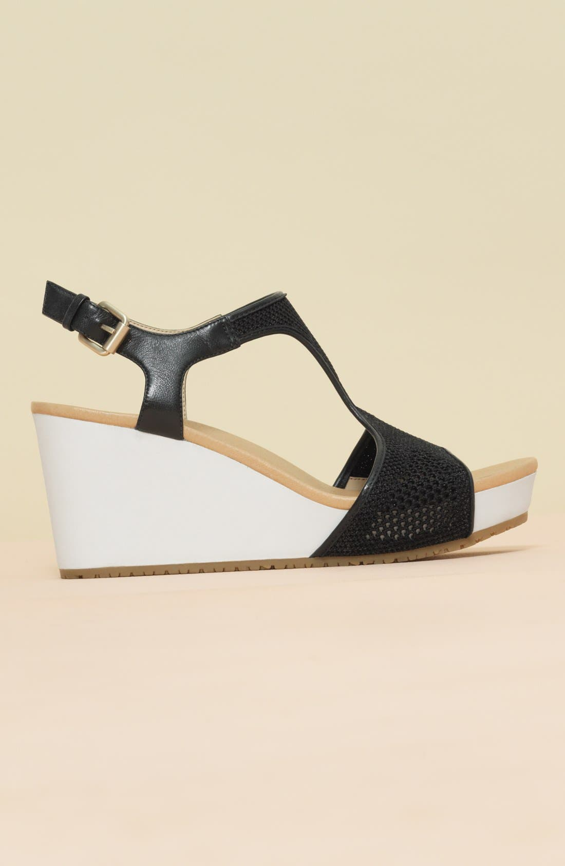 'Original Collection Wiley' Wedge Sandal,                             Alternate thumbnail 8, color,                             NUDE