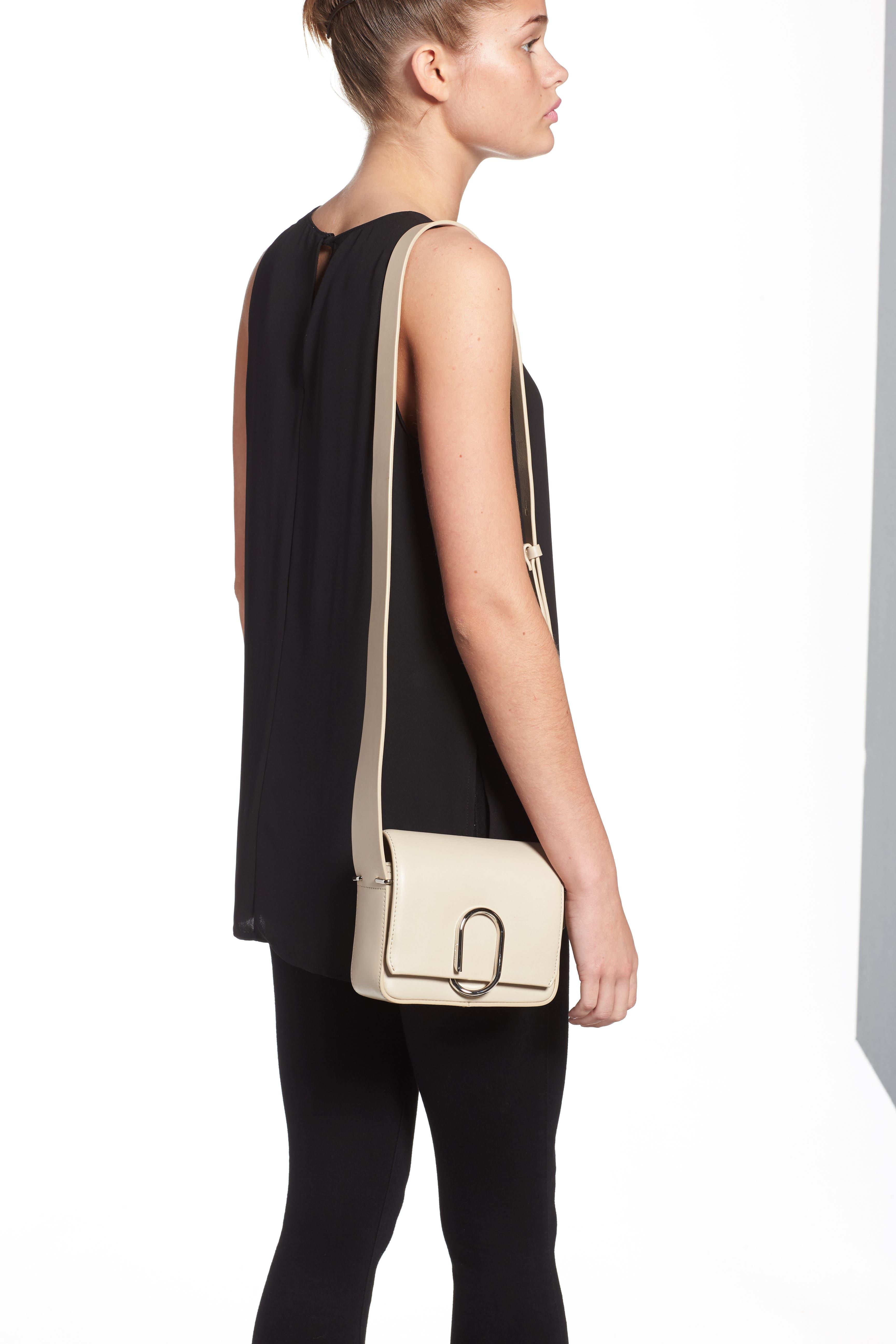 'Mini Alix' Leather Shoulder Bag,                             Alternate thumbnail 3, color,                             110