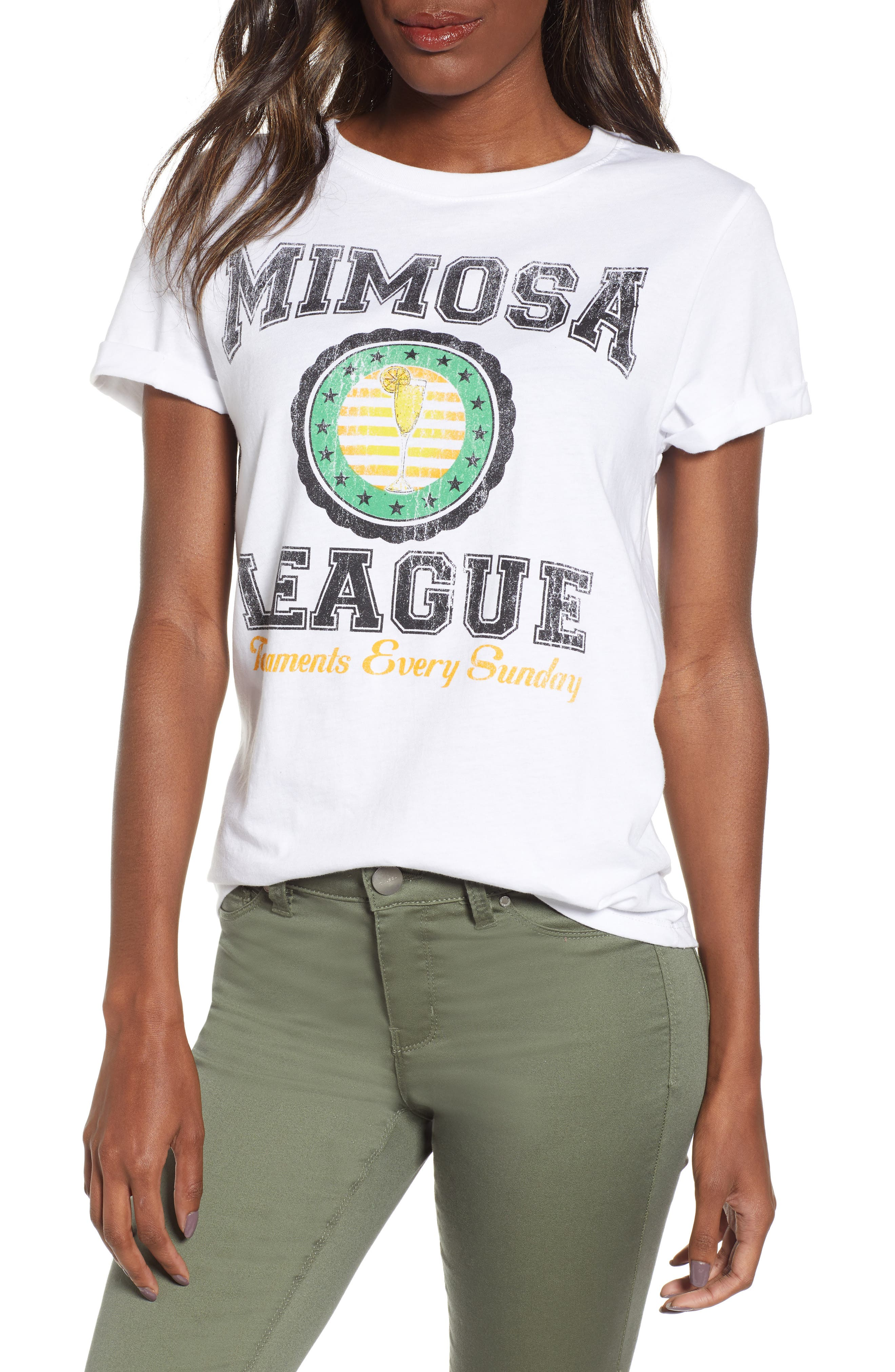 PRINCE PETER Mimosa League Tee, Main, color, WHITE