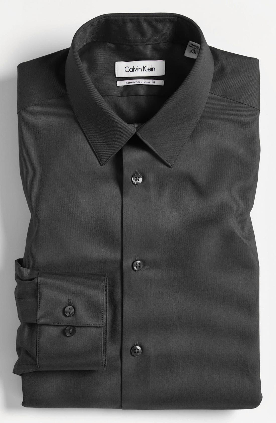 Slim Fit Non-Iron Dress Shirt,                             Main thumbnail 2, color,
