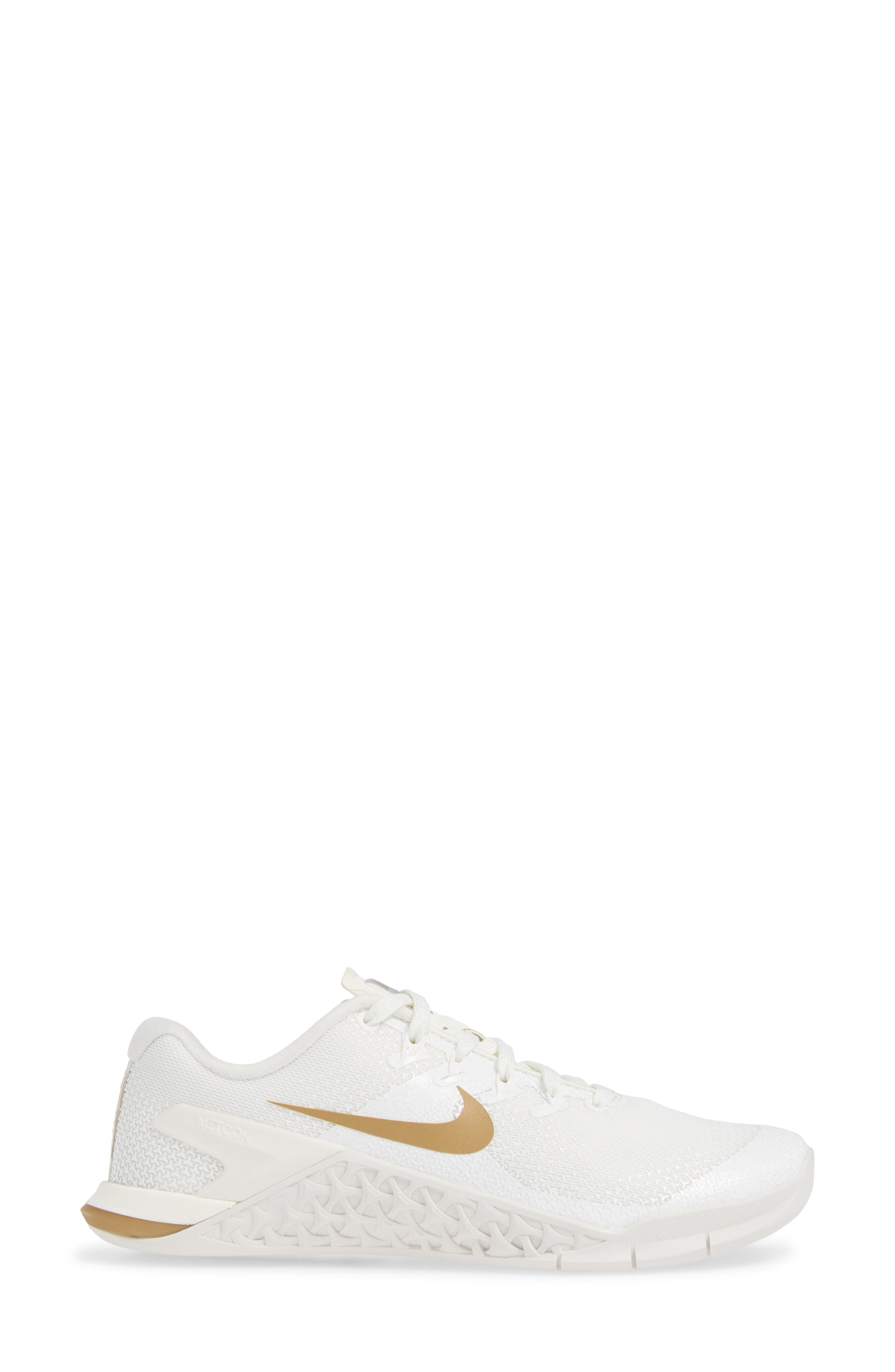 Metcon 4 Training Shoe,                             Alternate thumbnail 3, color,                             CHAMPAGNE