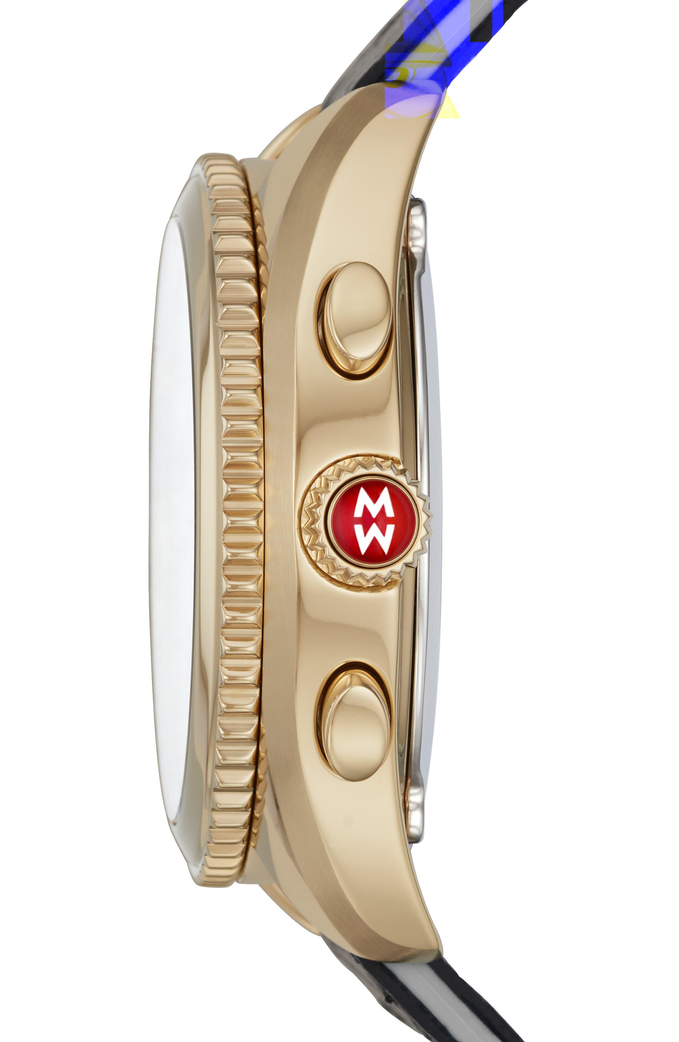 Hybrid Tracker Watch, 38mm,                             Alternate thumbnail 2, color,                             BLUE/ GREY/ GOLD