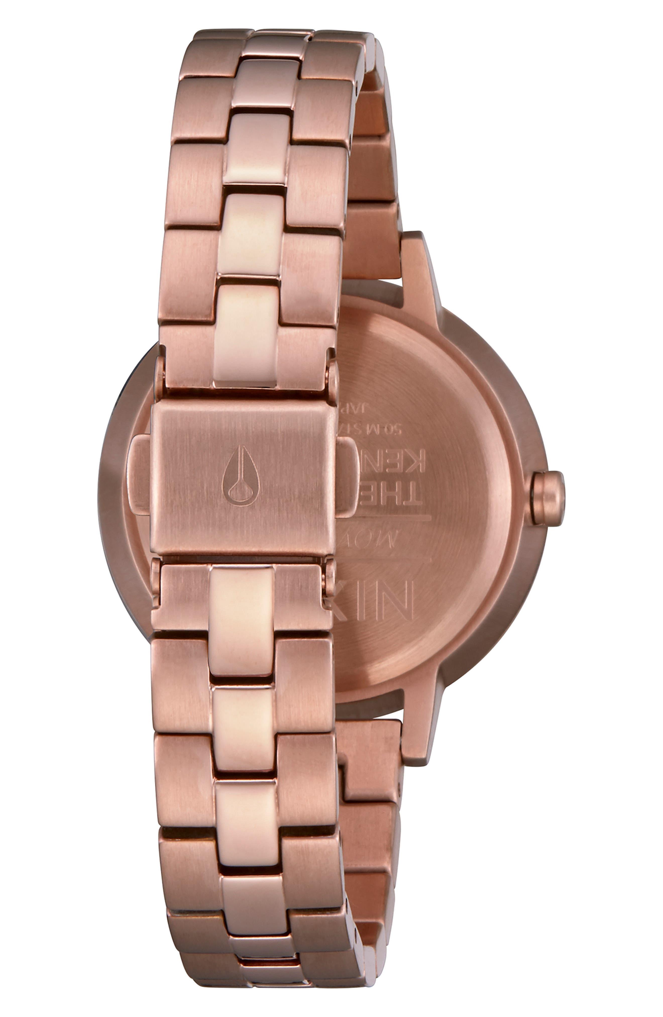 NIXON,                             Medium Kensington Bracelet Watch, 32mm,                             Alternate thumbnail 2, color,                             ROSE GOLD