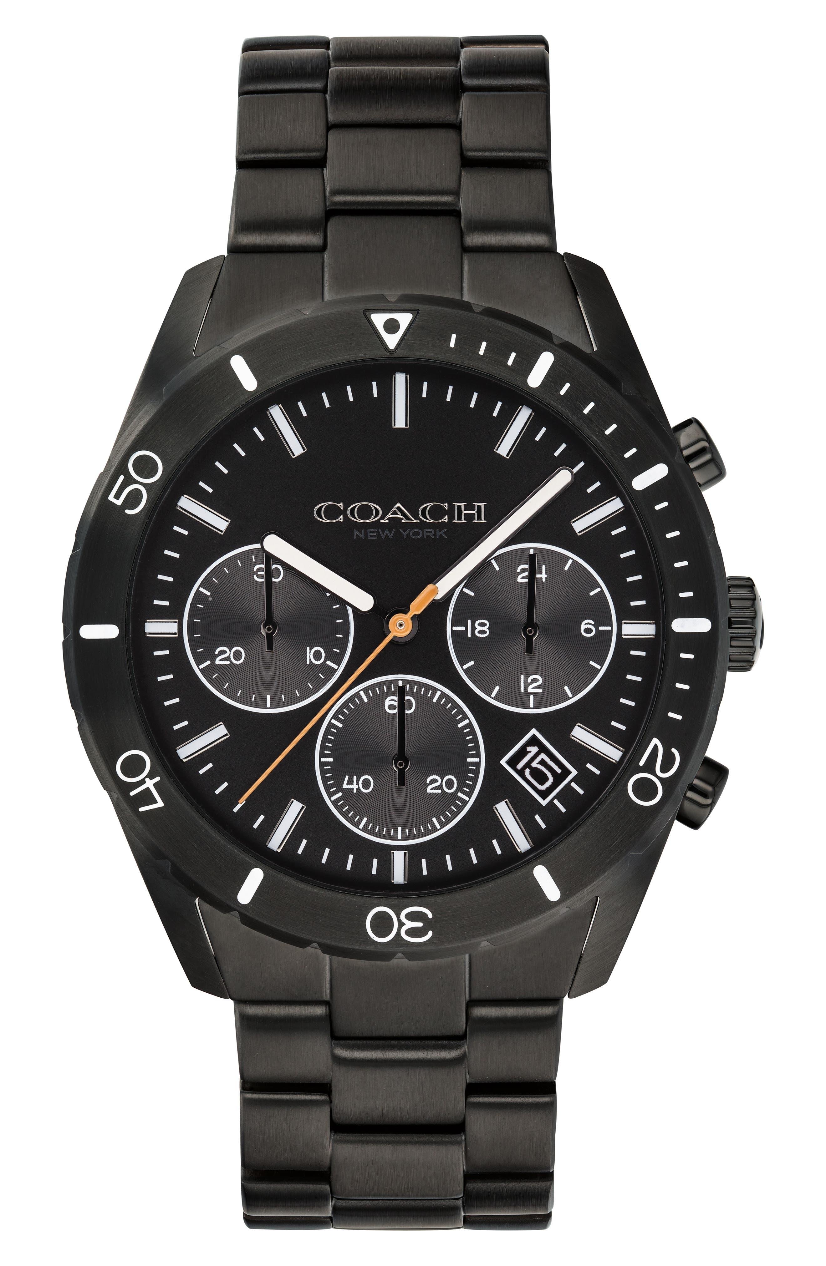 Thompson Sport Chronograph Bracelet Watch, 41mm,                             Main thumbnail 1, color,                             BLACK