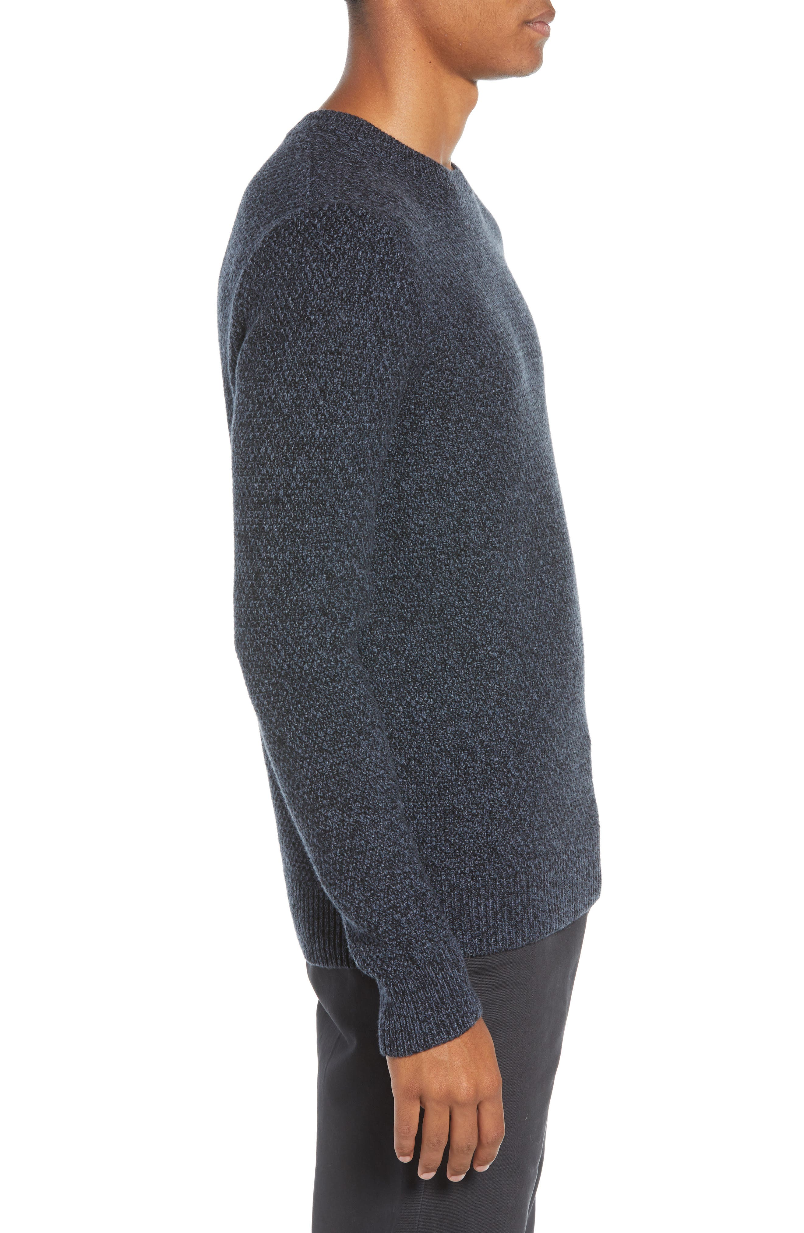 Montreal Slim Fit Crewneck Sweater,                             Alternate thumbnail 3, color,                             NAVY