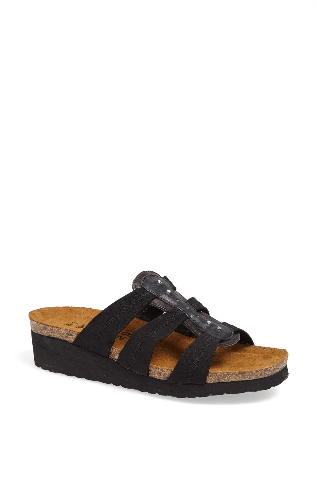 'Brooke' Sandal,                         Main,                         color, BLACK