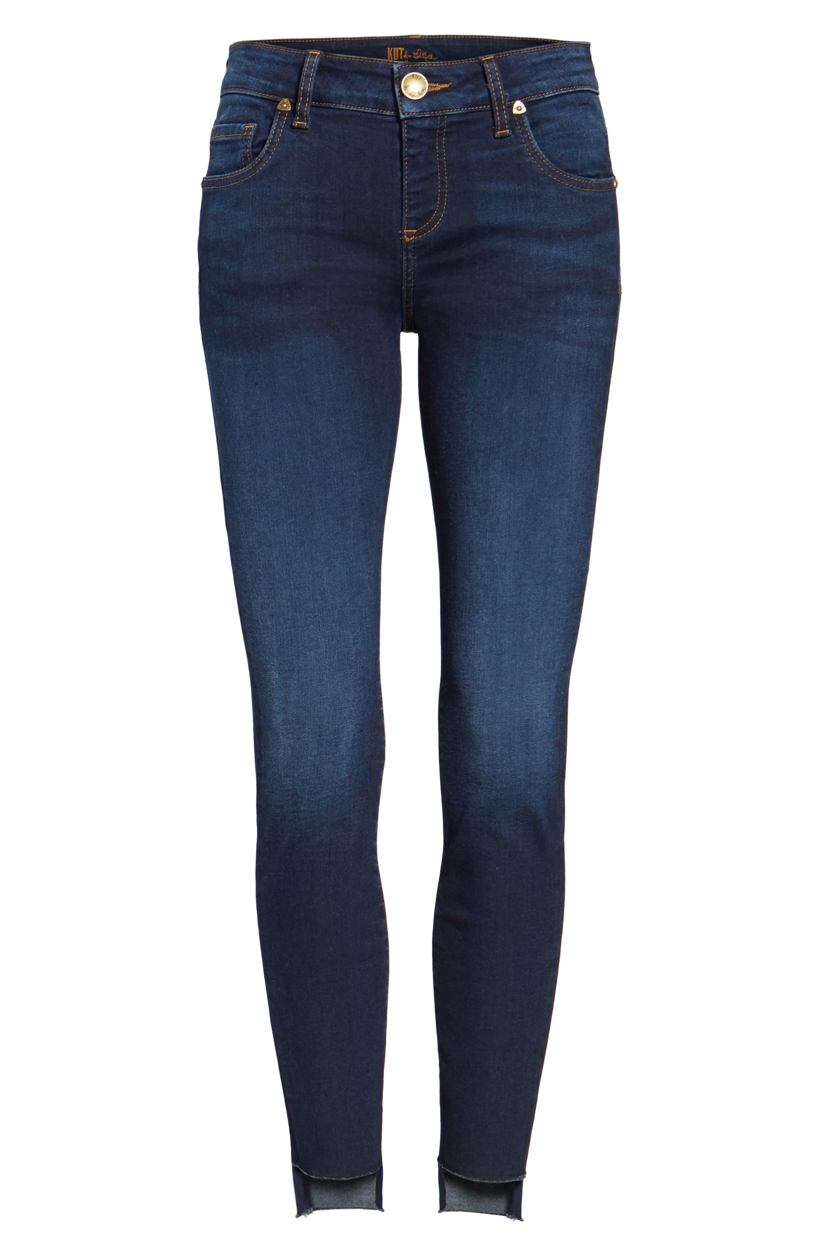 Connie Step Hem Ankle Jeans,                             Alternate thumbnail 6, color,                             410