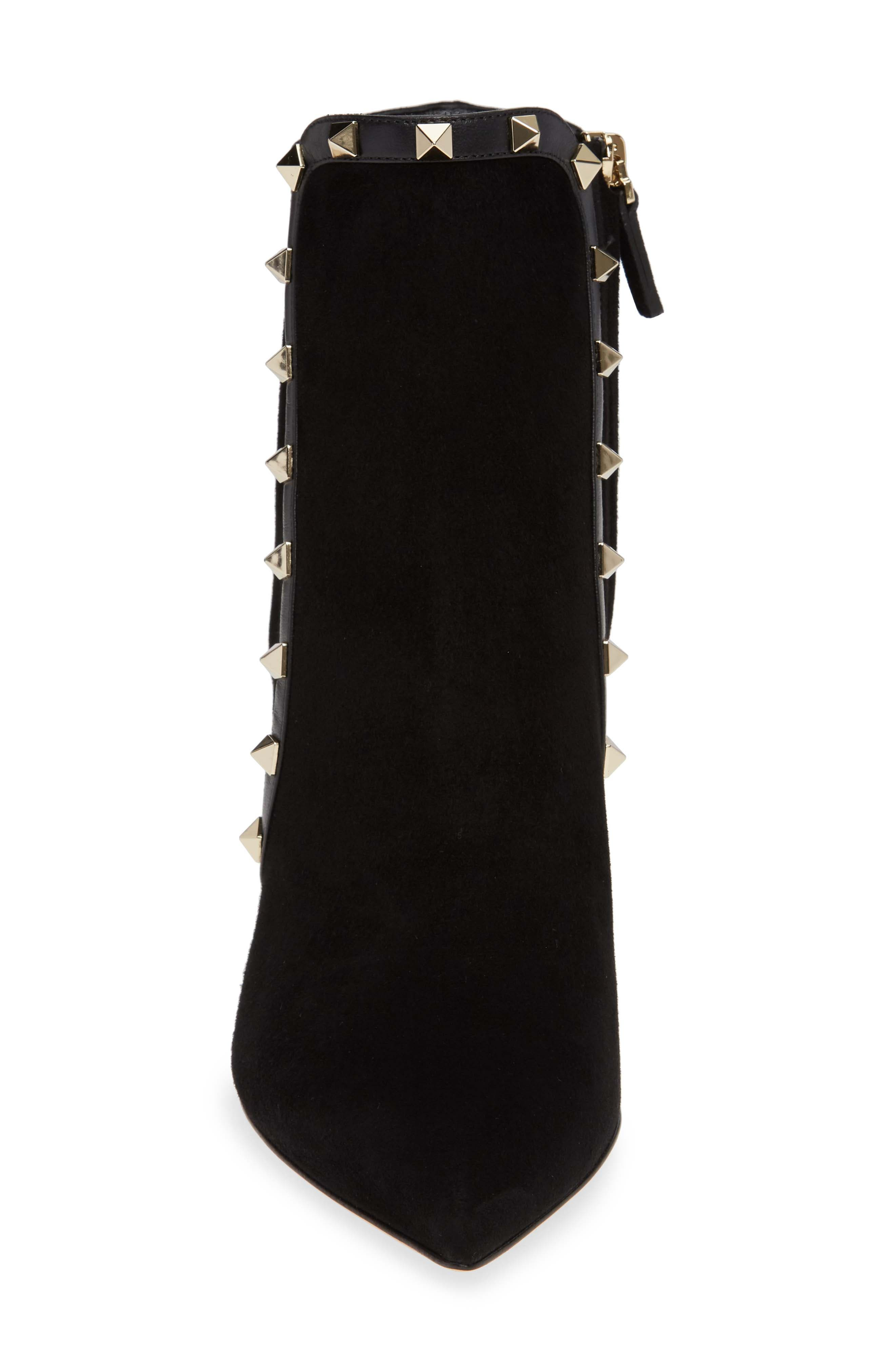 VALENTINO GARAVANI,                             Rockstud Bootie,                             Alternate thumbnail 4, color,                             BLACK