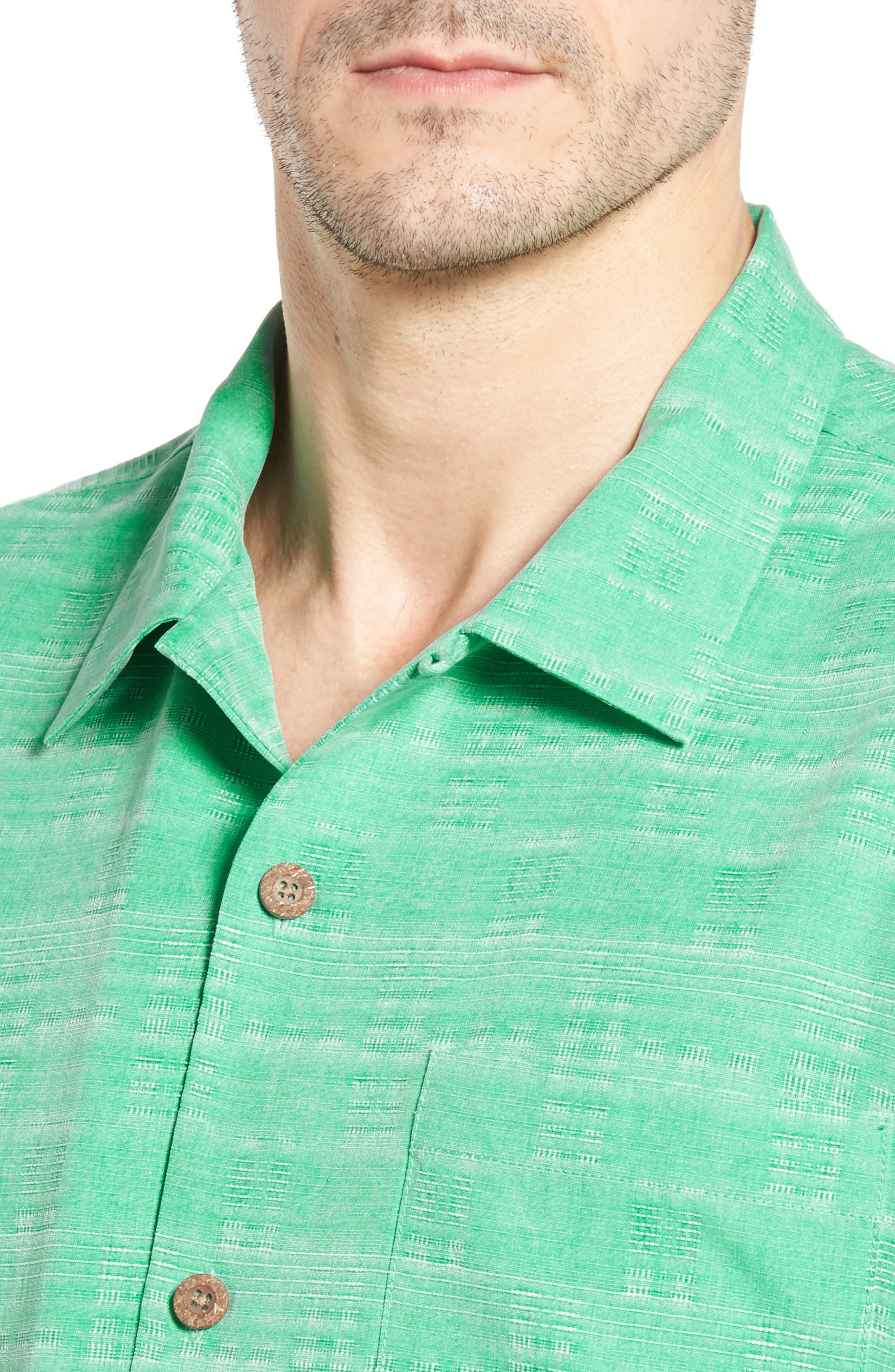 Original Fit Jacquard Silk Camp Shirt,                             Alternate thumbnail 21, color,