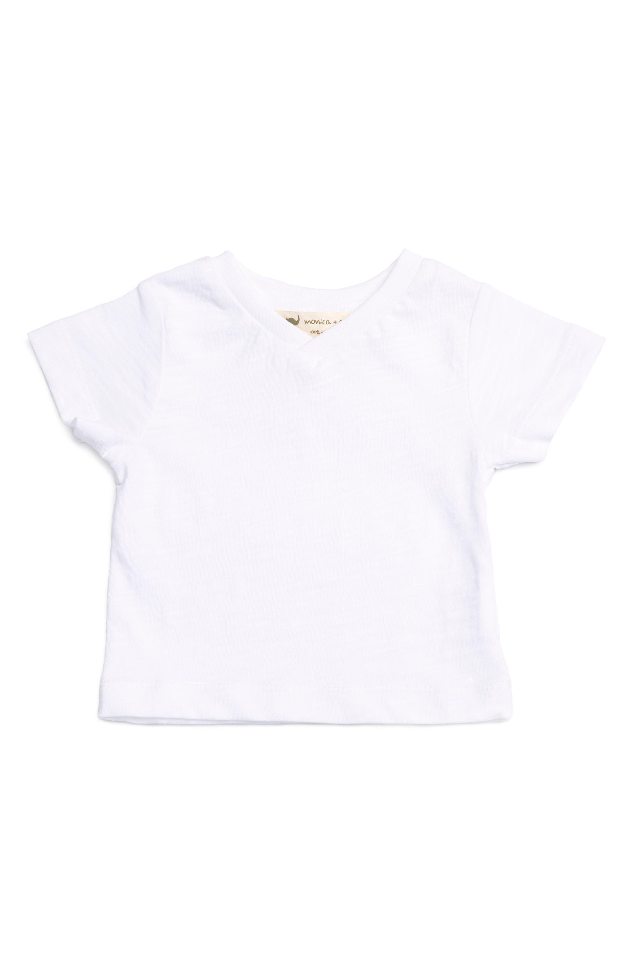 Classic V-Neck T-Shirt,                             Main thumbnail 1, color,                             100