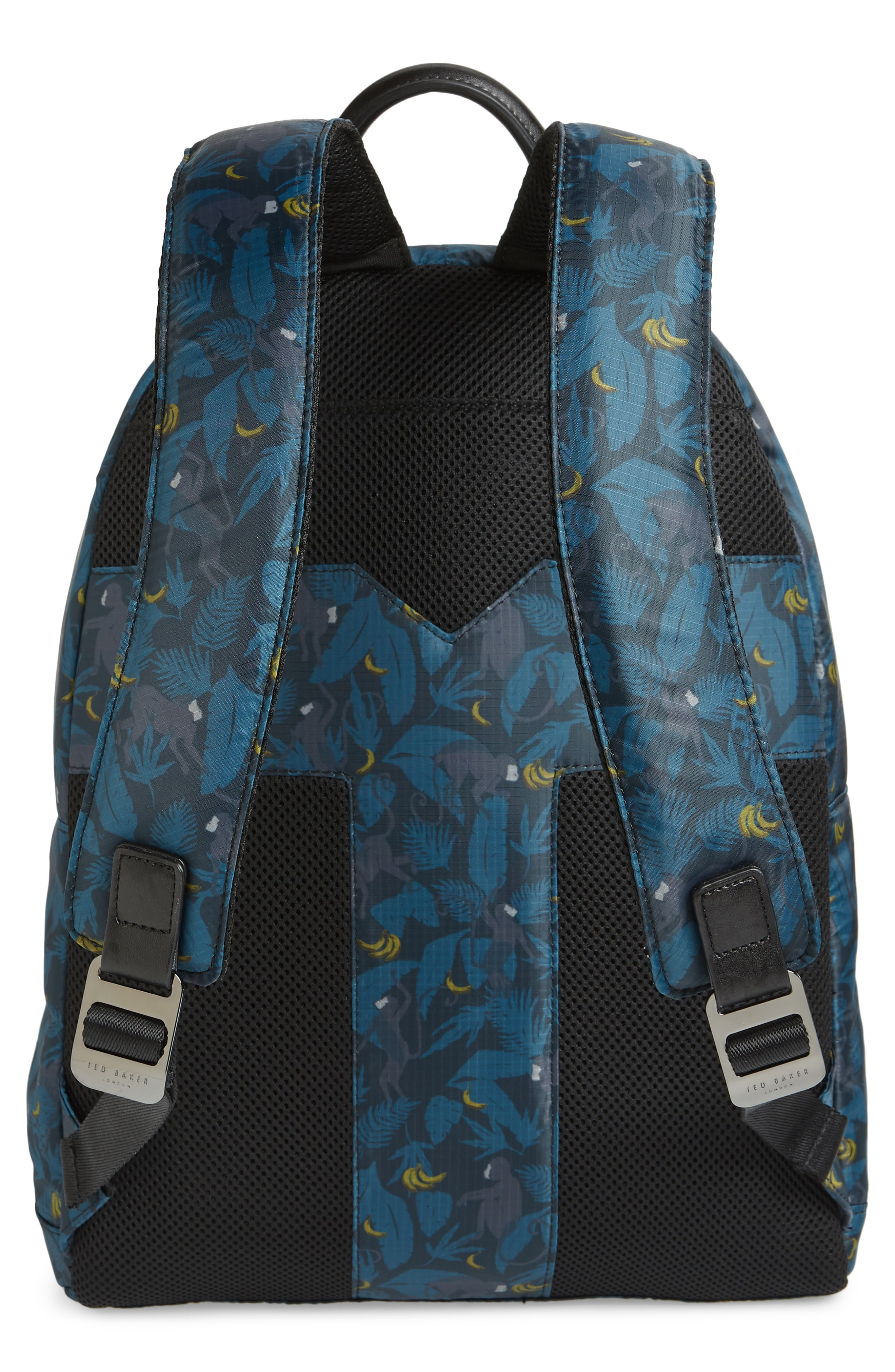 Primate Print Backpack,                             Alternate thumbnail 3, color,                             NAVY