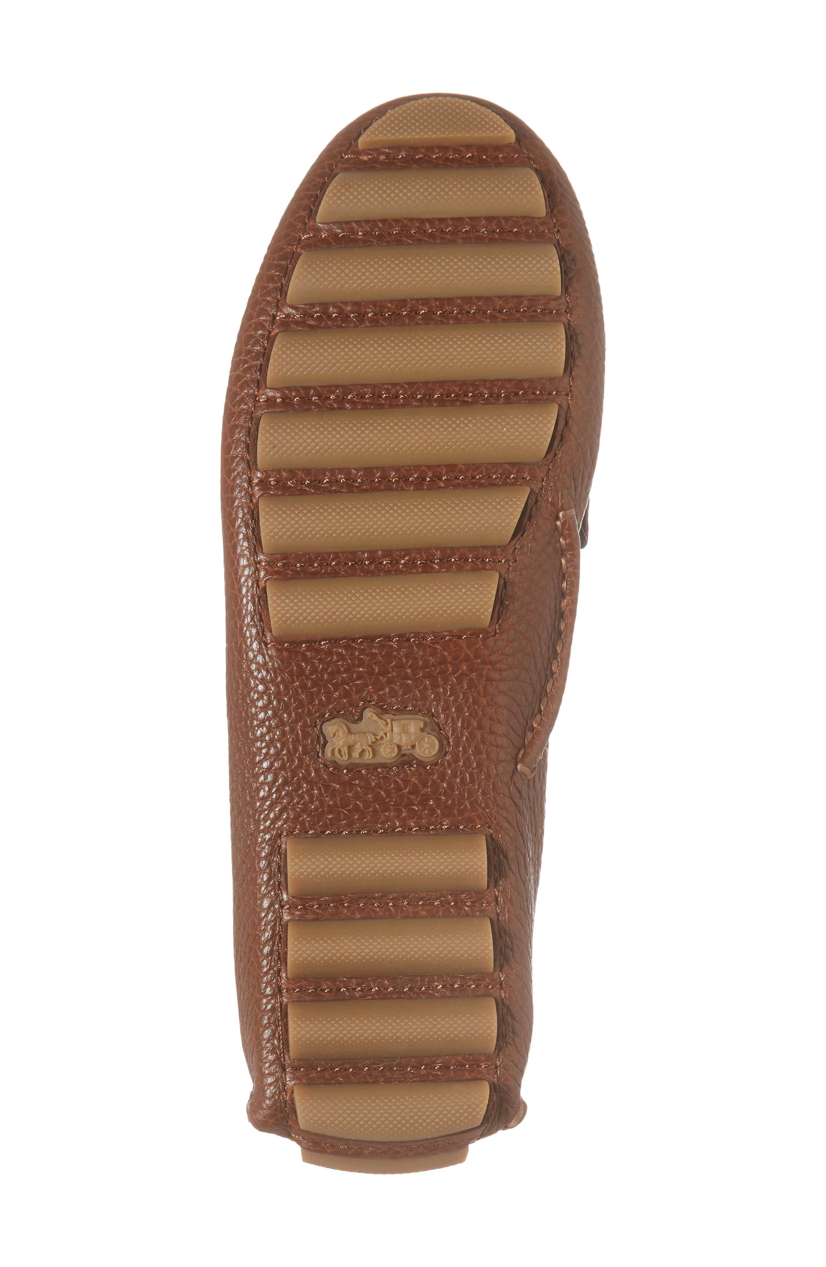Crosby Driver Loafer,                             Alternate thumbnail 6, color,                             LION PEBBLED LEATHER