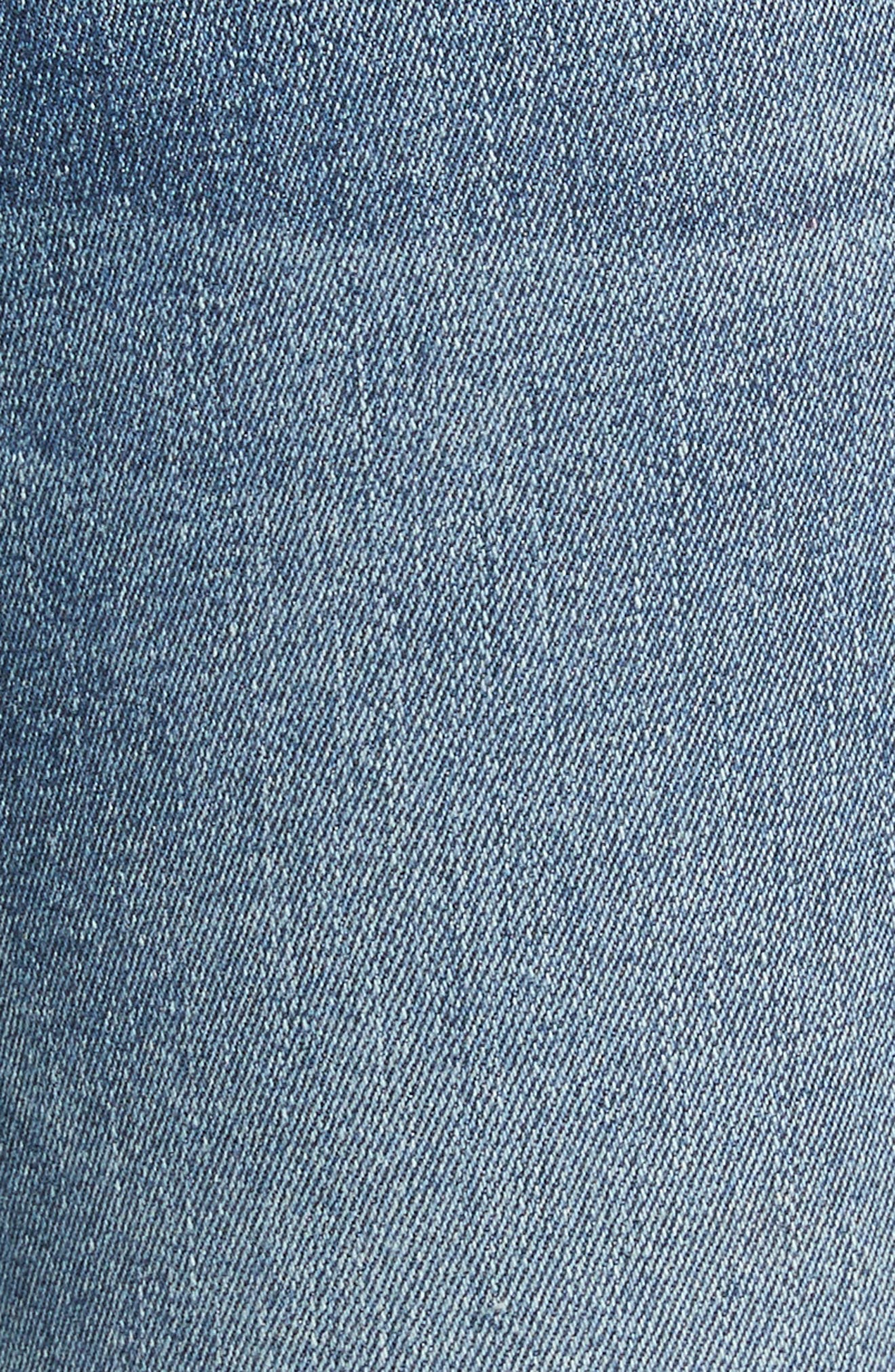 Le High Raw Hem Skinny Jeans,                             Alternate thumbnail 5, color,