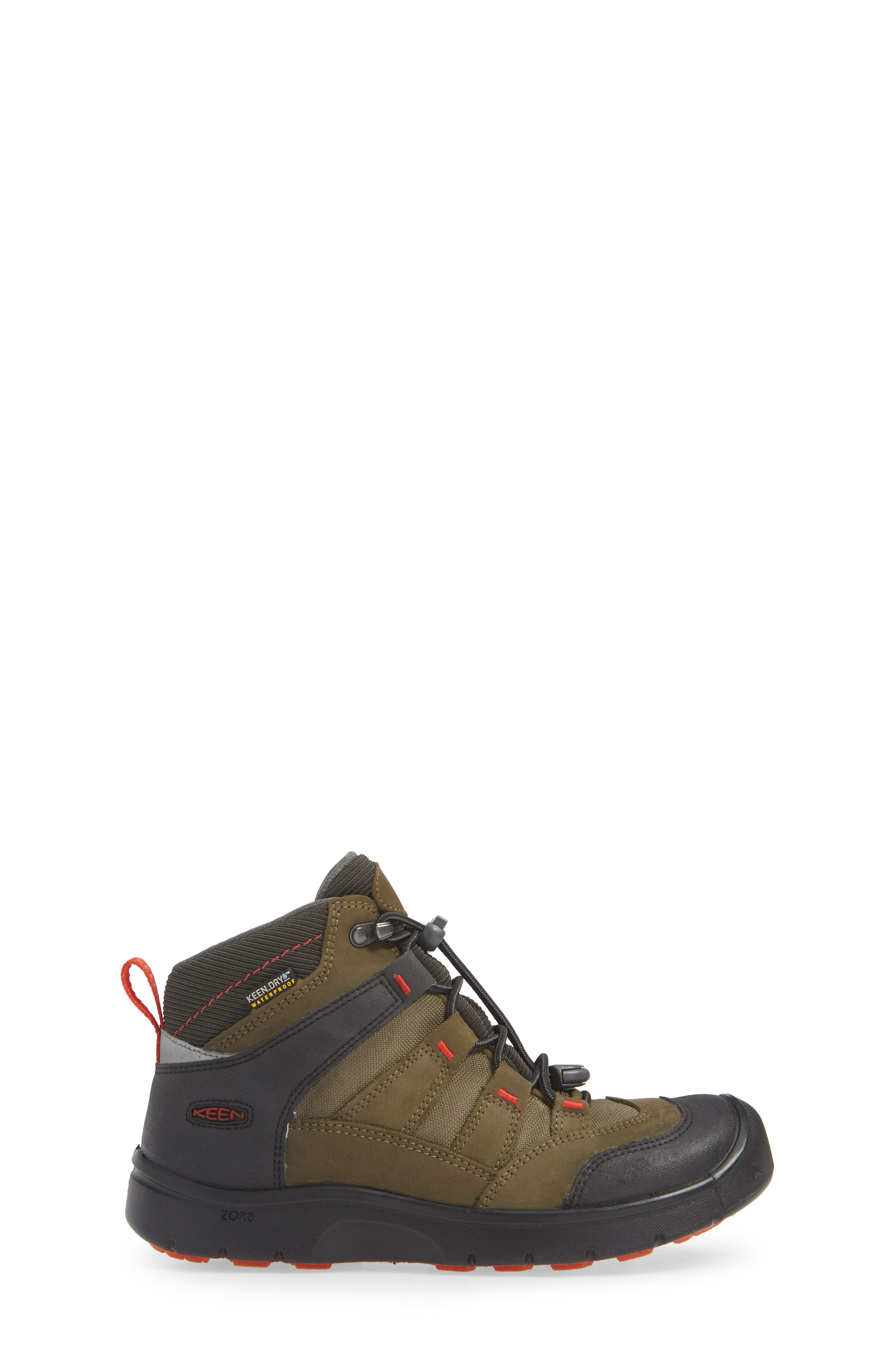 Hikeport Strap Waterproof Mid Boot,                             Alternate thumbnail 3, color,                             MARTINI OLIVE/ PUREED PUMPKIN