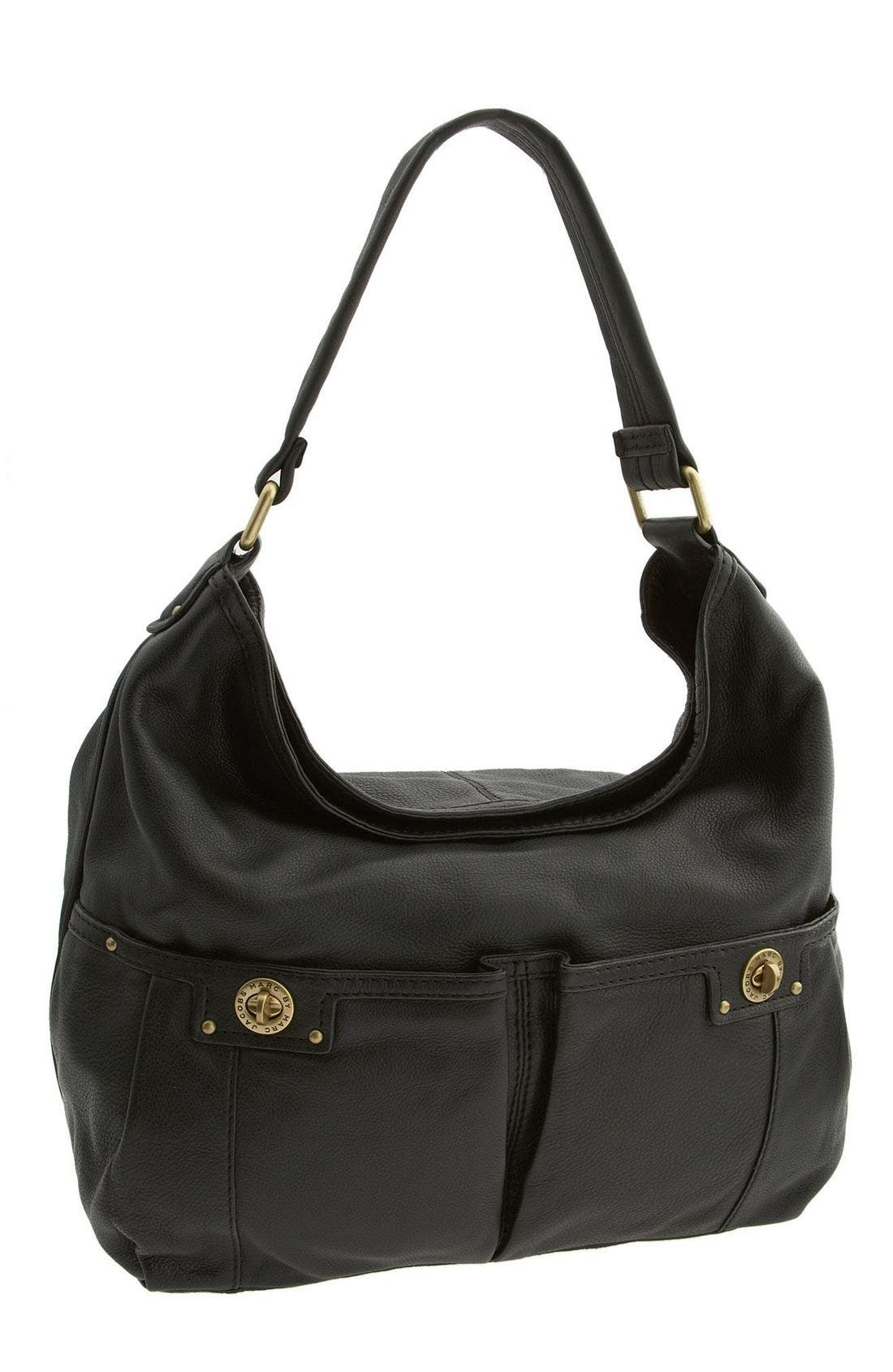 MARC BY MARC JACOBS 'Totally Turnlock - Faridah' Hobo Bag,                             Main thumbnail 1, color,                             001