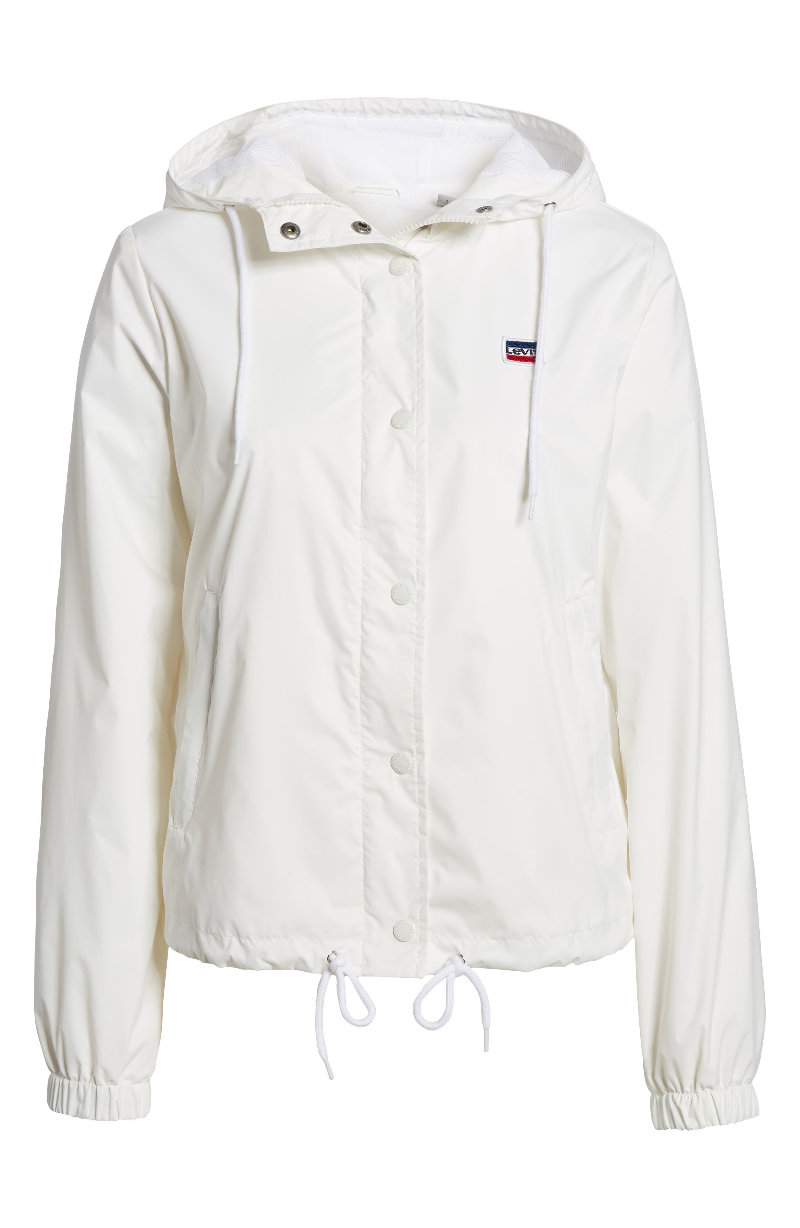 Retro Hooded Coach's Jacket,                             Alternate thumbnail 6, color,                             100