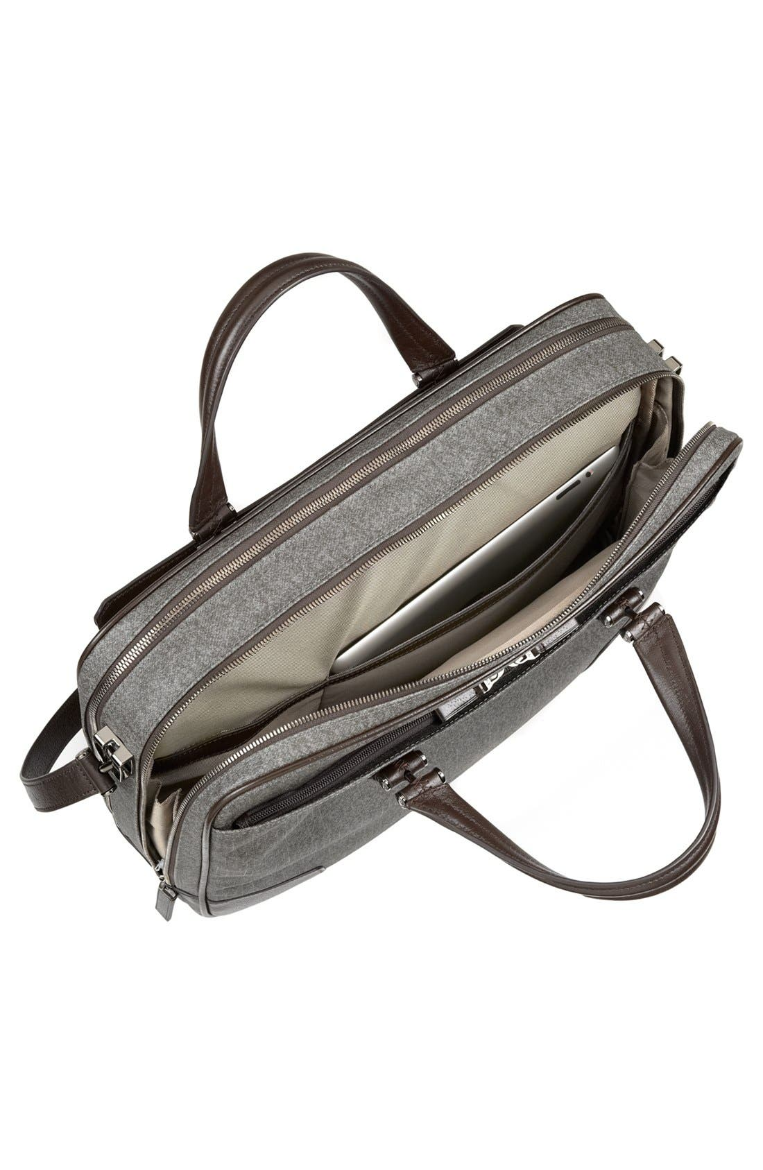 'Astor Ansonia' Zip Top Coated Canvas Laptop Briefcase,                             Alternate thumbnail 6, color,                             068