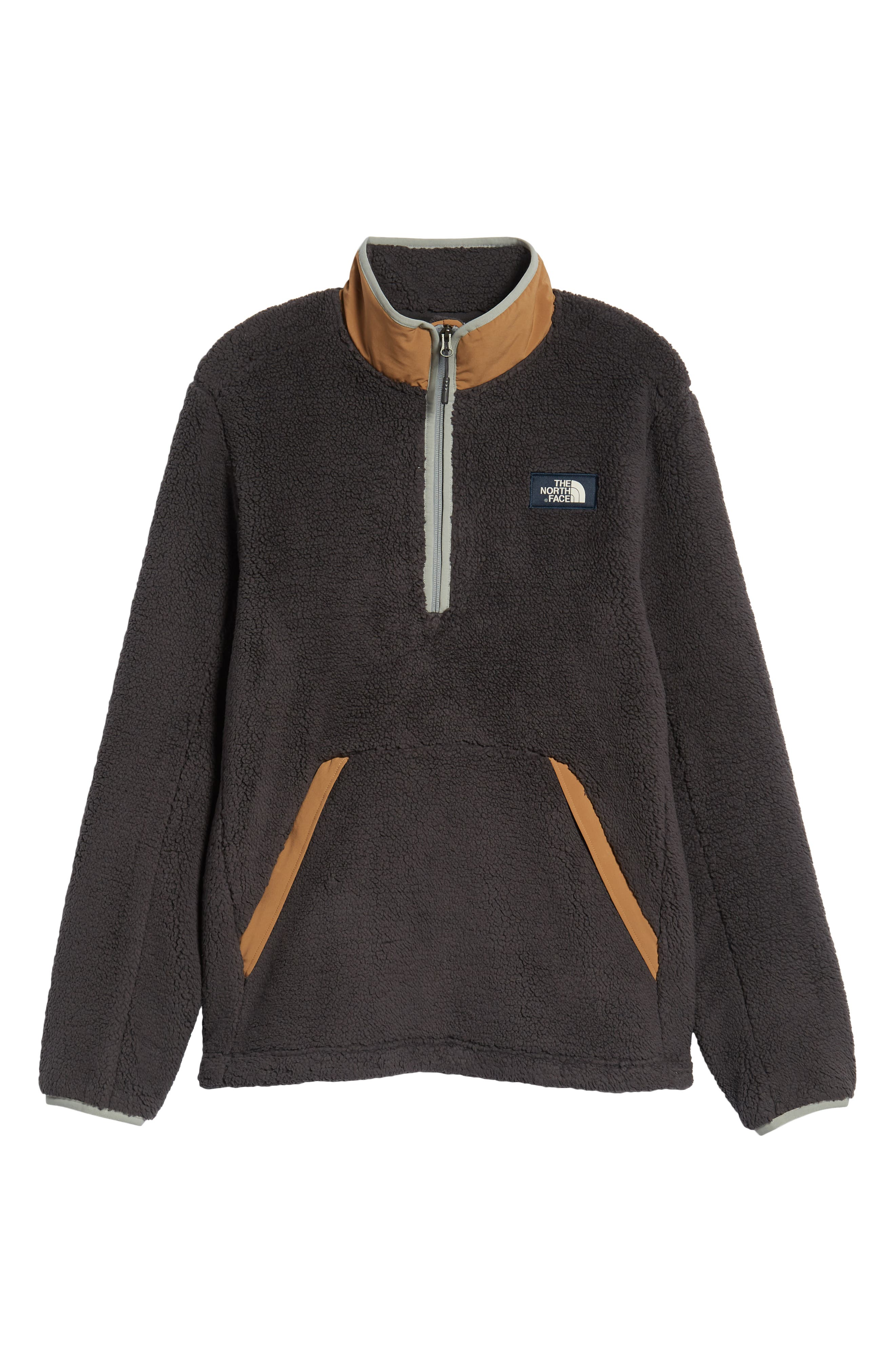 THE NORTH FACE,                             Campshire Pullover Fleece Jacket,                             Alternate thumbnail 7, color,                             001