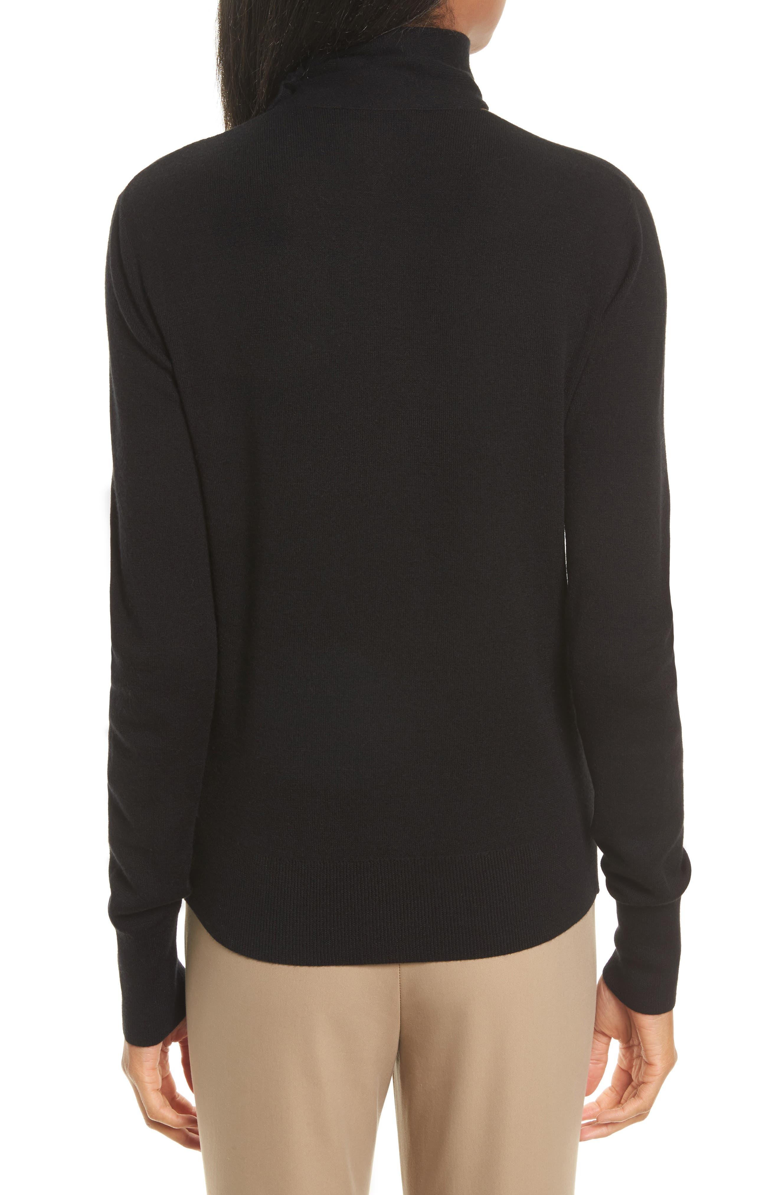 Choker Collar Silk Blend Sweater,                             Alternate thumbnail 2, color,                             001