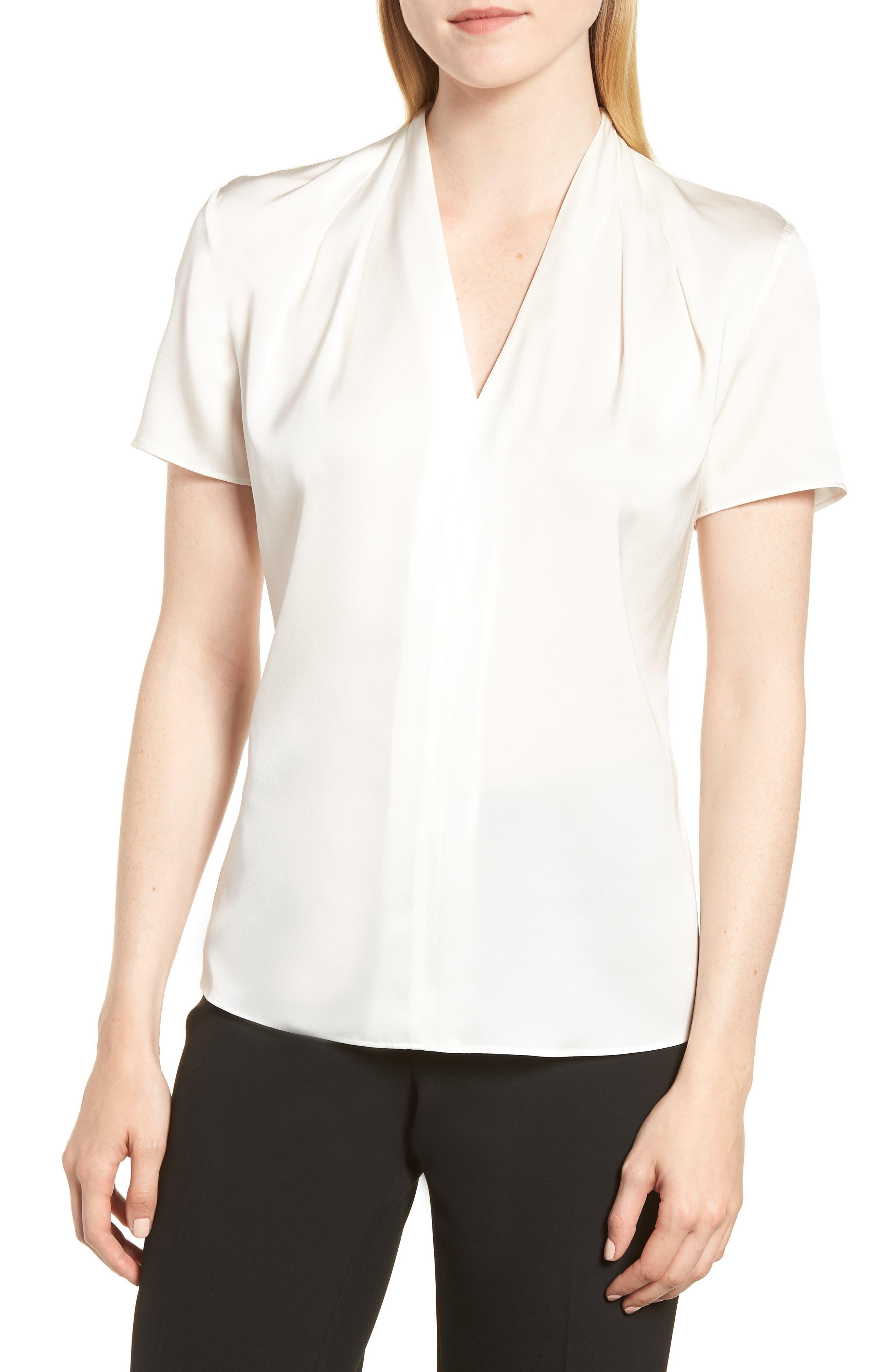 Insina Stretch Silk Blouse,                         Main,                         color,