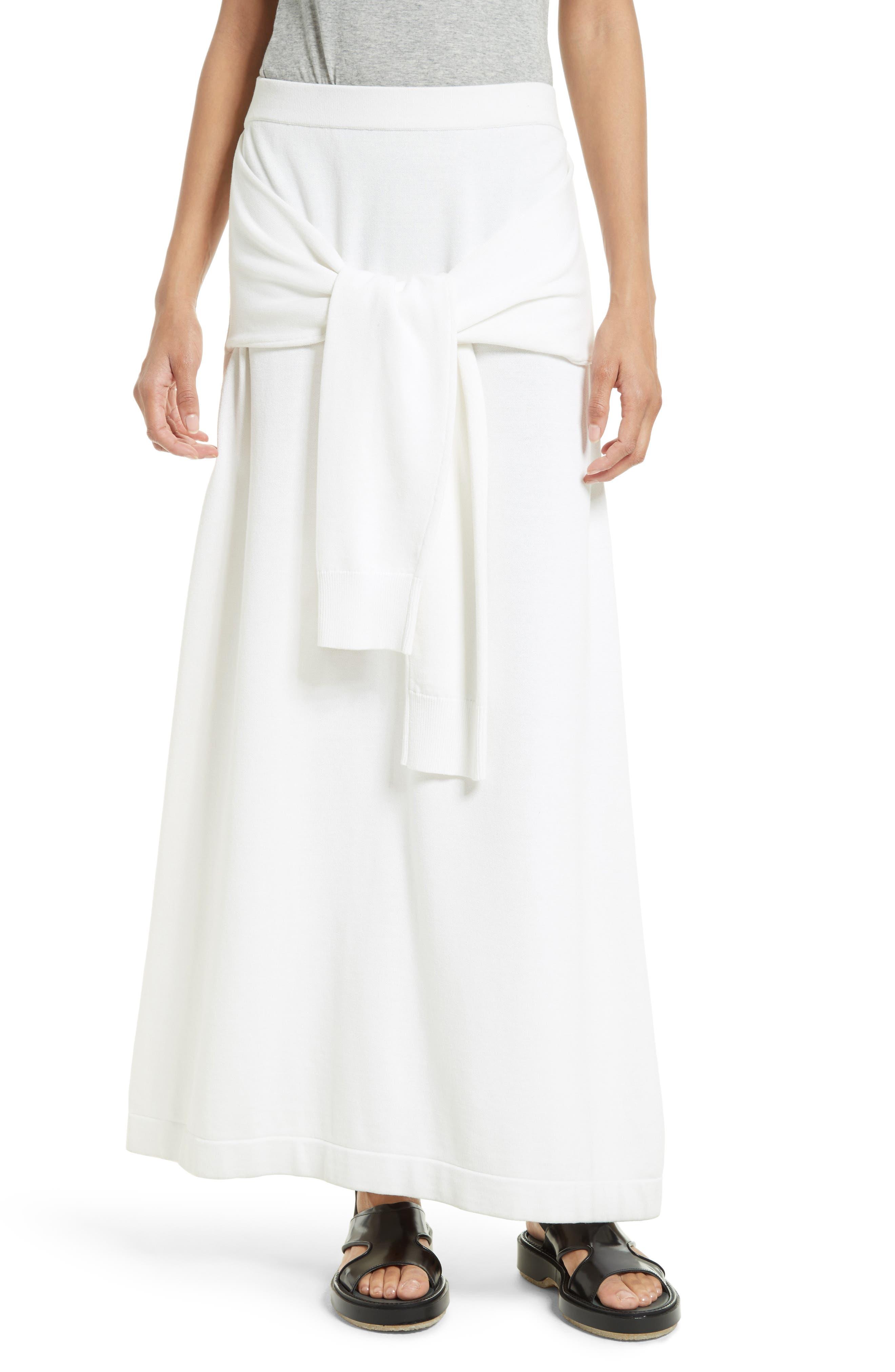 Tie Detail Knit Maxi Skirt,                         Main,                         color, 110