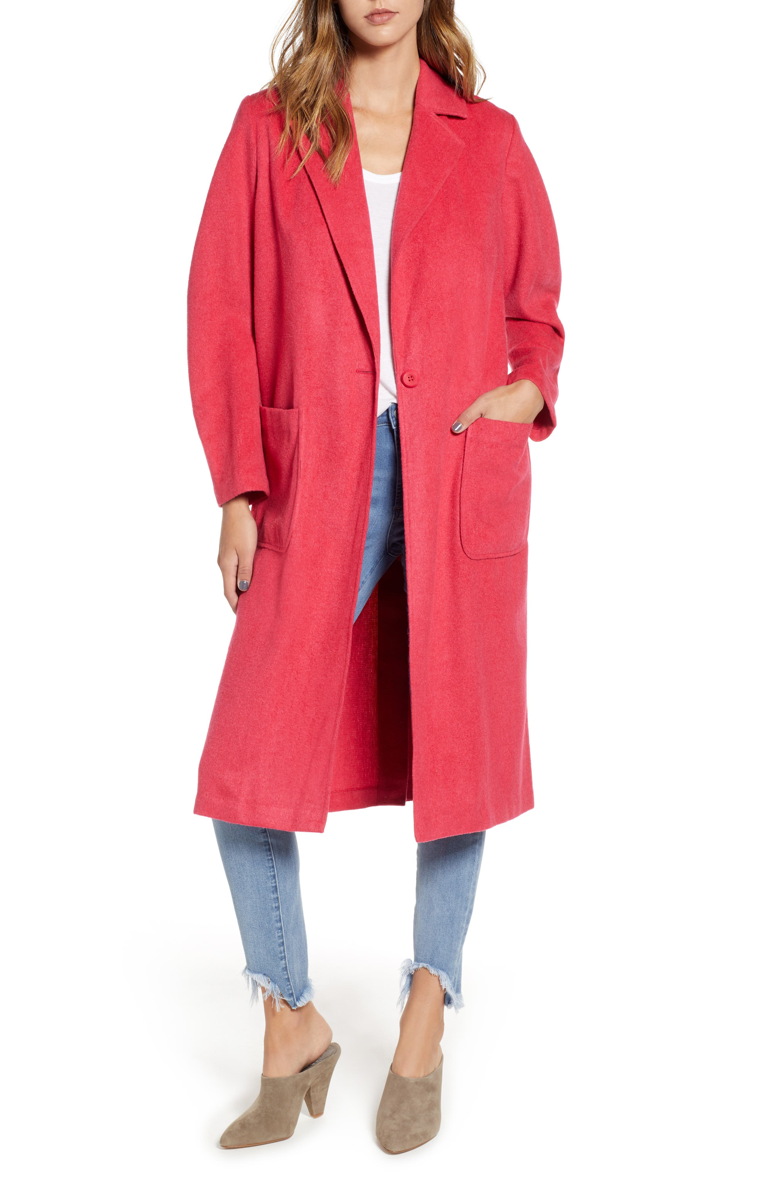 Single Button Long Jacket,                             Main thumbnail 1, color,                             651