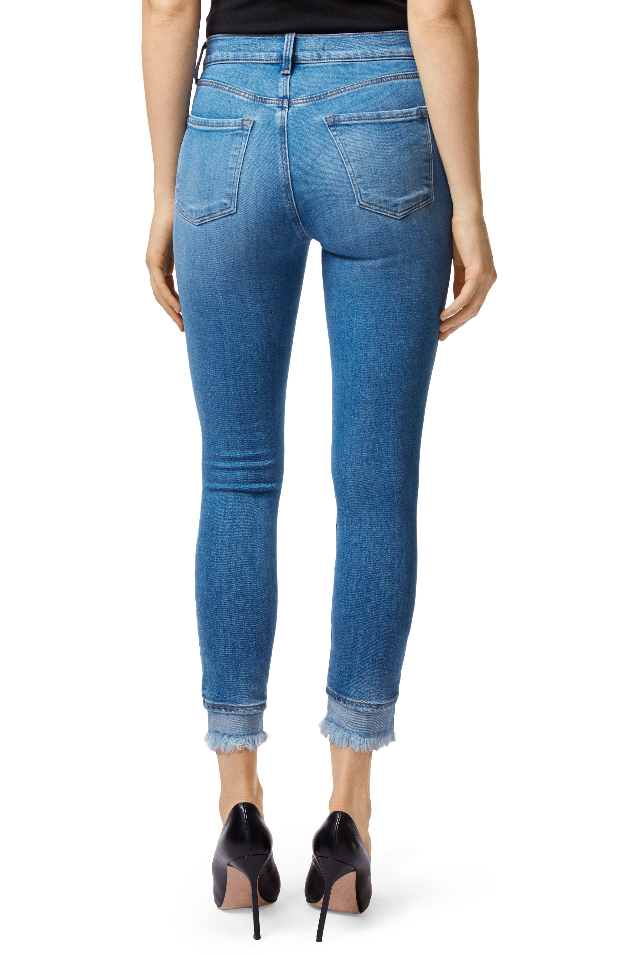 Alana Frayed High Waist Ankle Skinny Jeans,                             Alternate thumbnail 2, color,                             453