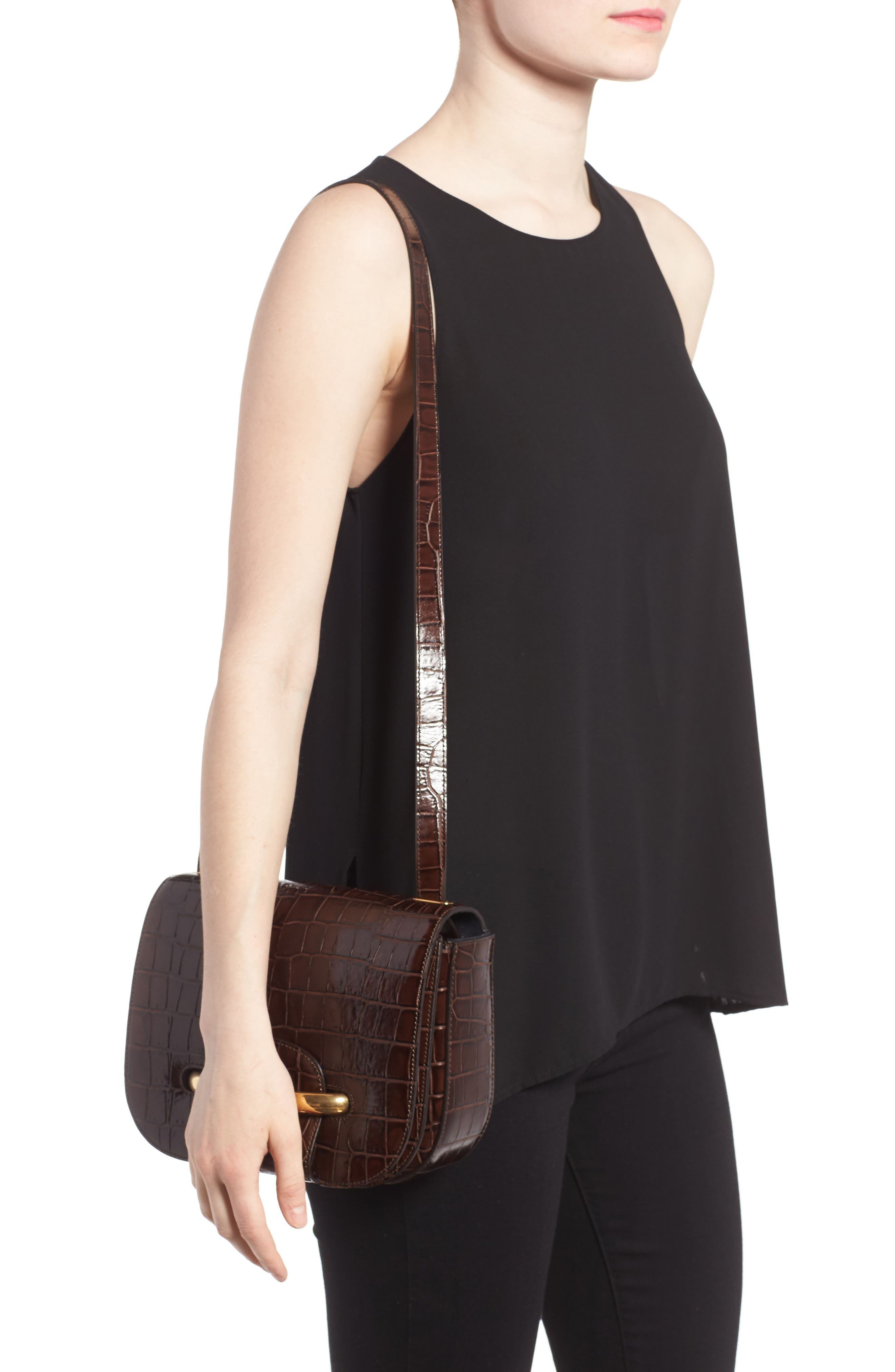 MULBERRY,                             Selwood Leather Saddle Bag,                             Alternate thumbnail 2, color,                             200