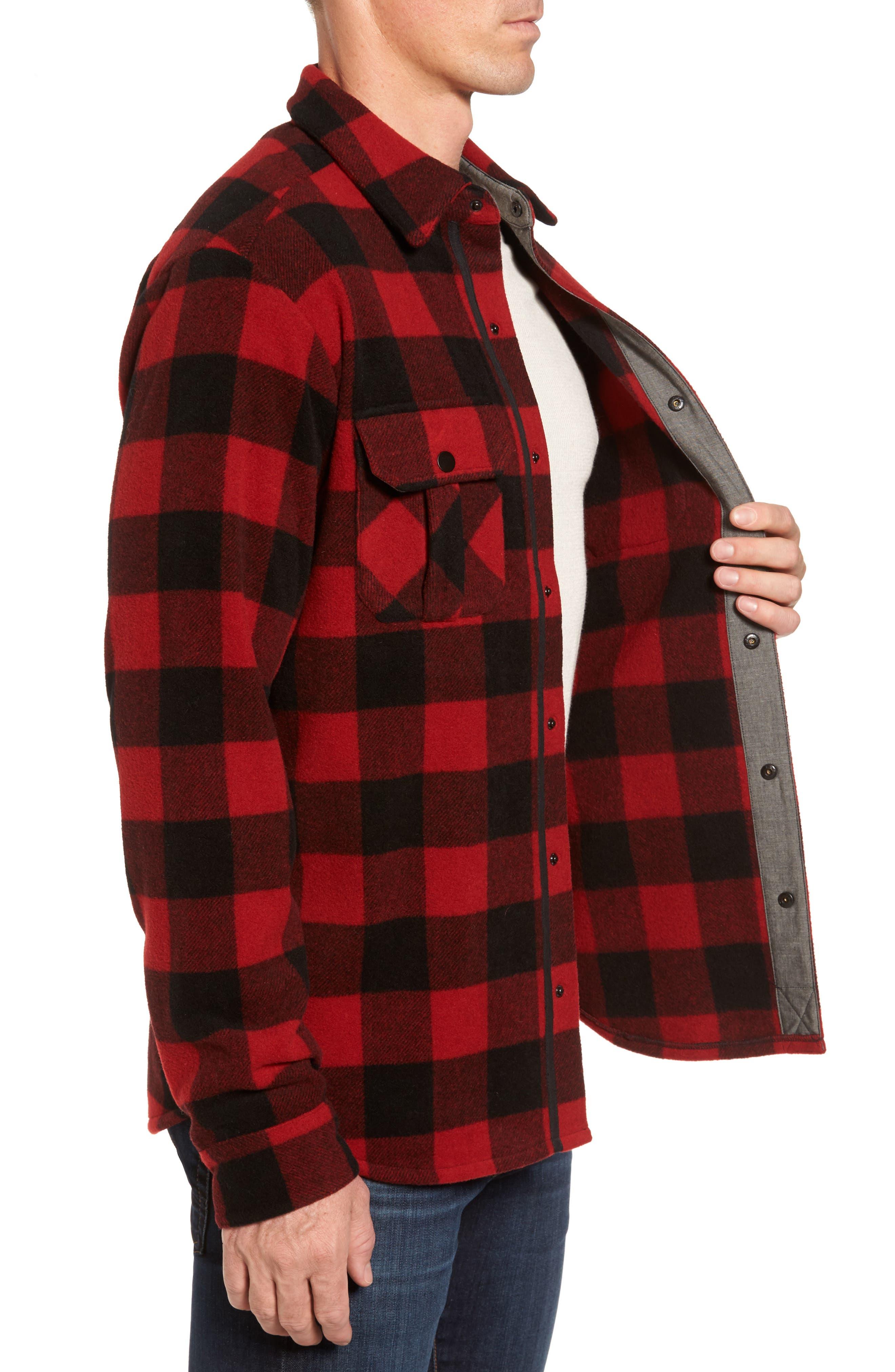 Anchor Line Flannel Shirt Jacket,                             Alternate thumbnail 6, color,