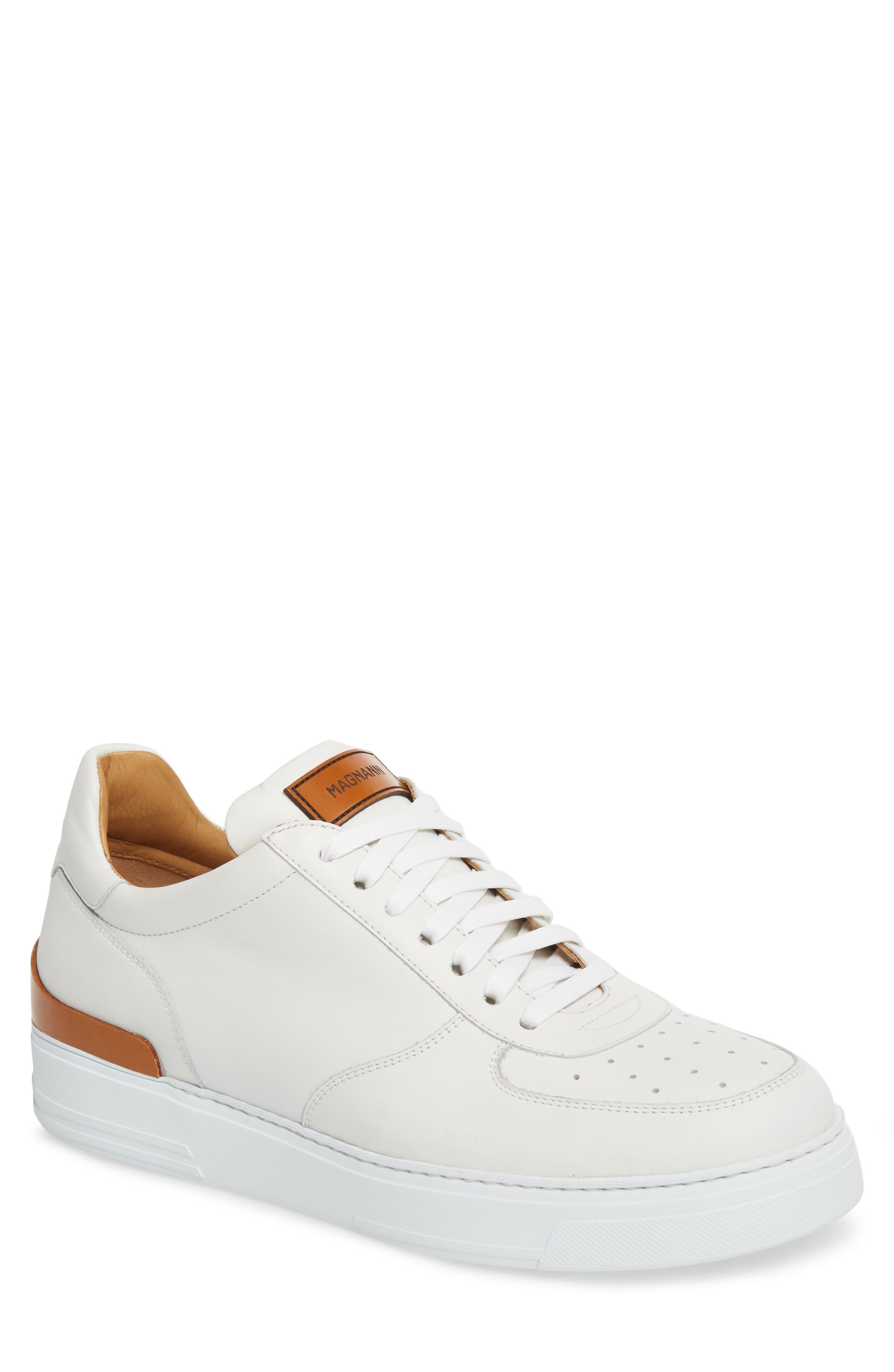 Vada Lo Lace Up Sneaker,                             Main thumbnail 1, color,                             WHITE LEATHER