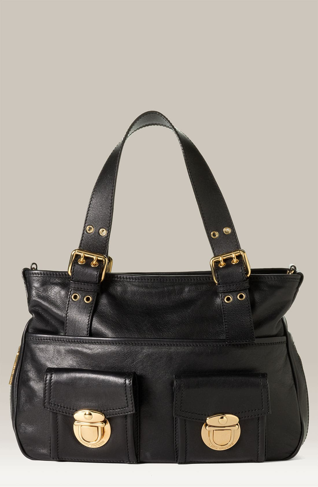 'Stella' Leather Handbag, Main, color, 001