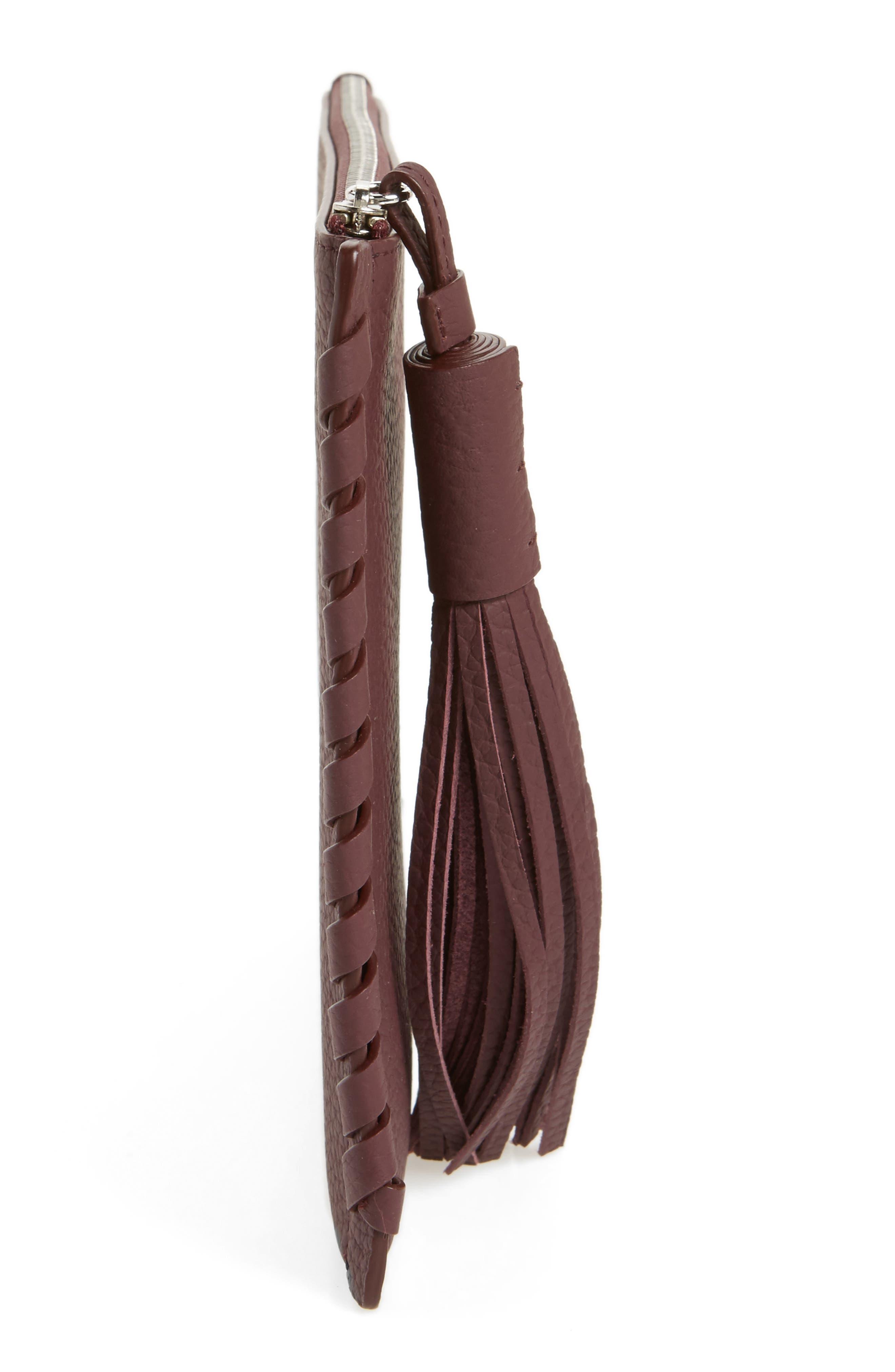 Kepi Leather Pouch,                             Alternate thumbnail 5, color,