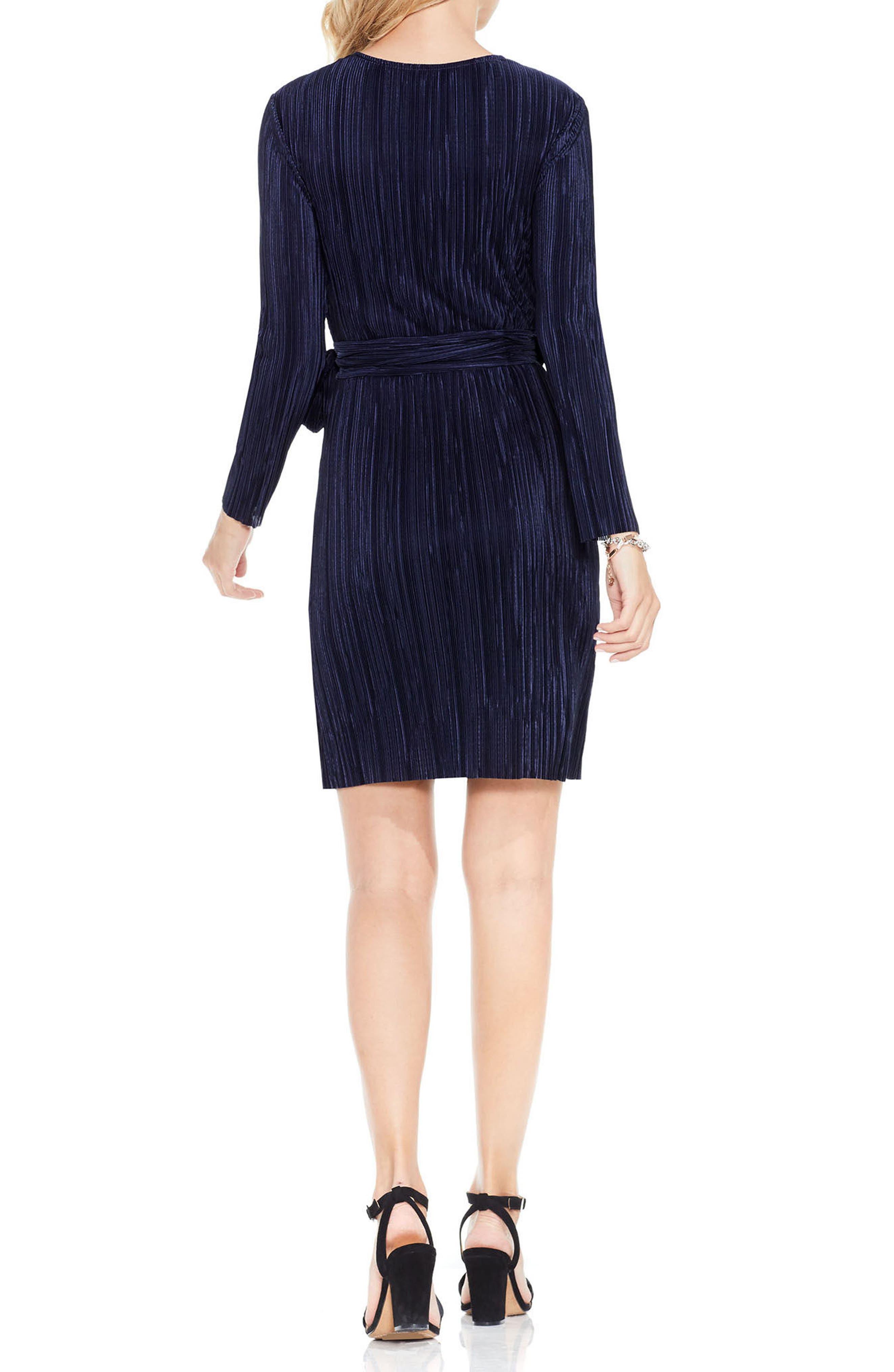 Pleated Knit Wrap Dress,                             Alternate thumbnail 2, color,                             464