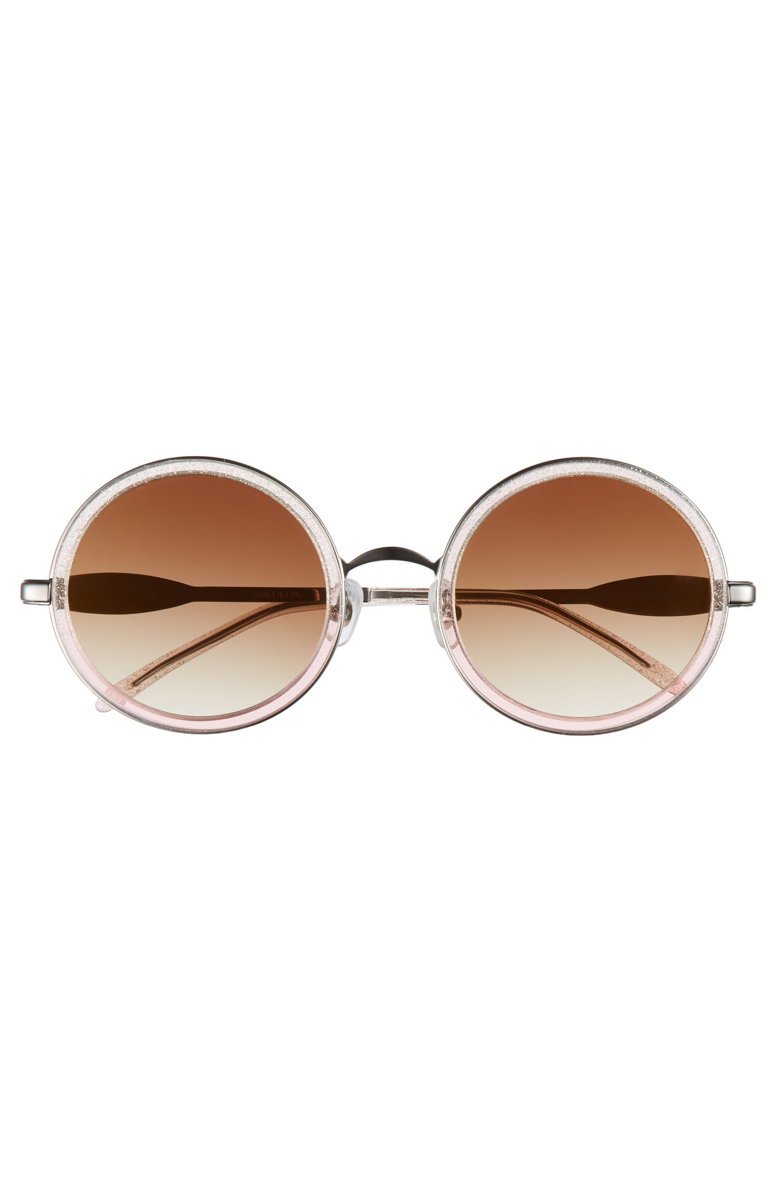 Ryder Zero 49mm Flat Round Sunglasses,                             Alternate thumbnail 3, color,                             GLITZ
