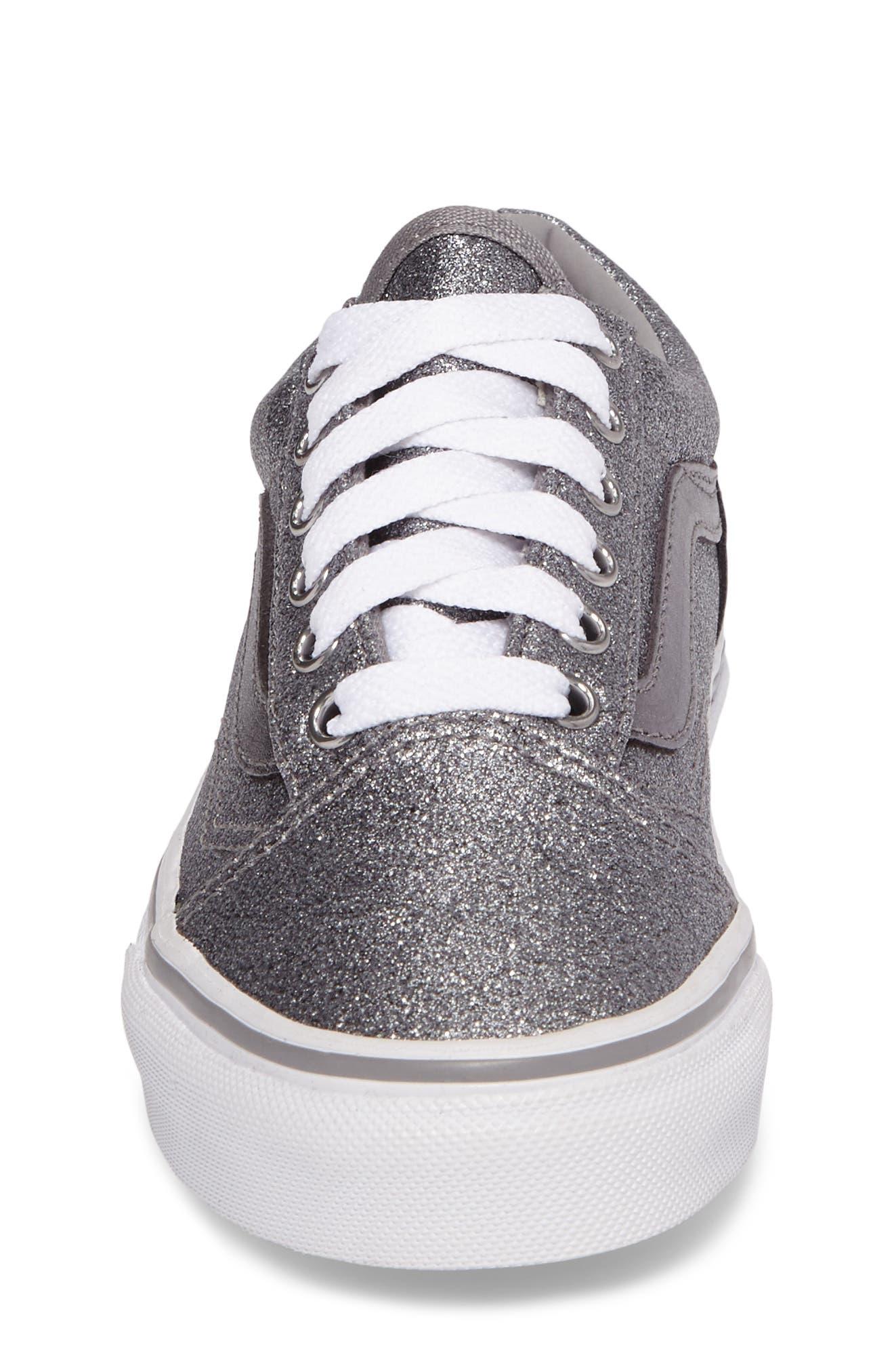 Old Skool Glitter Sneaker,                             Alternate thumbnail 4, color,                             040