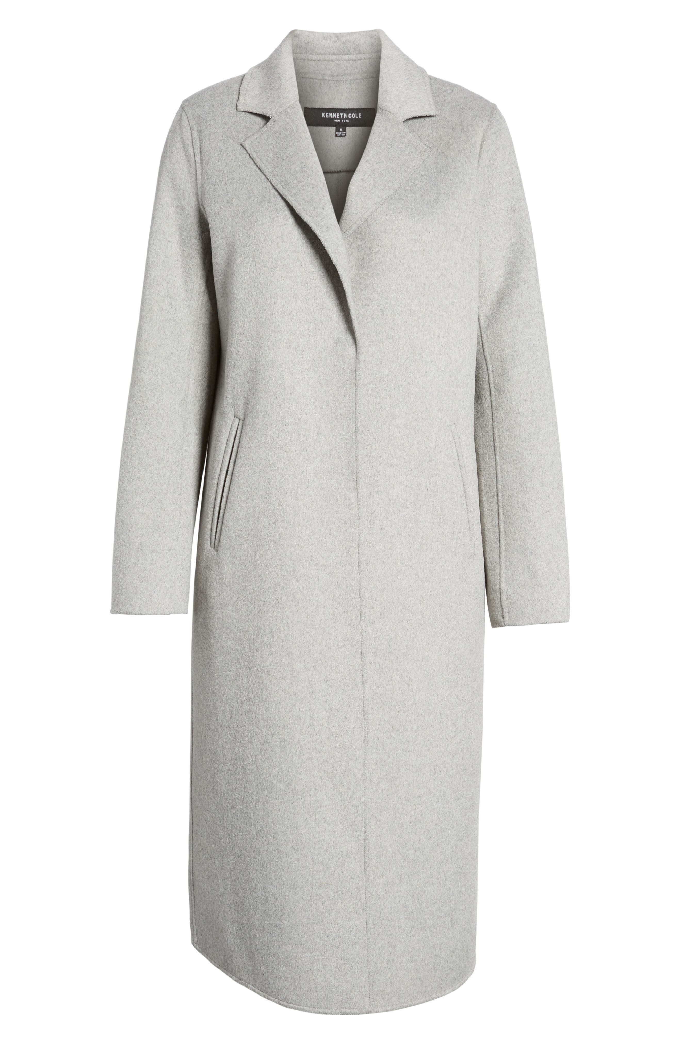 Double Face Wool Blend Long Coat,                             Alternate thumbnail 5, color,                             033
