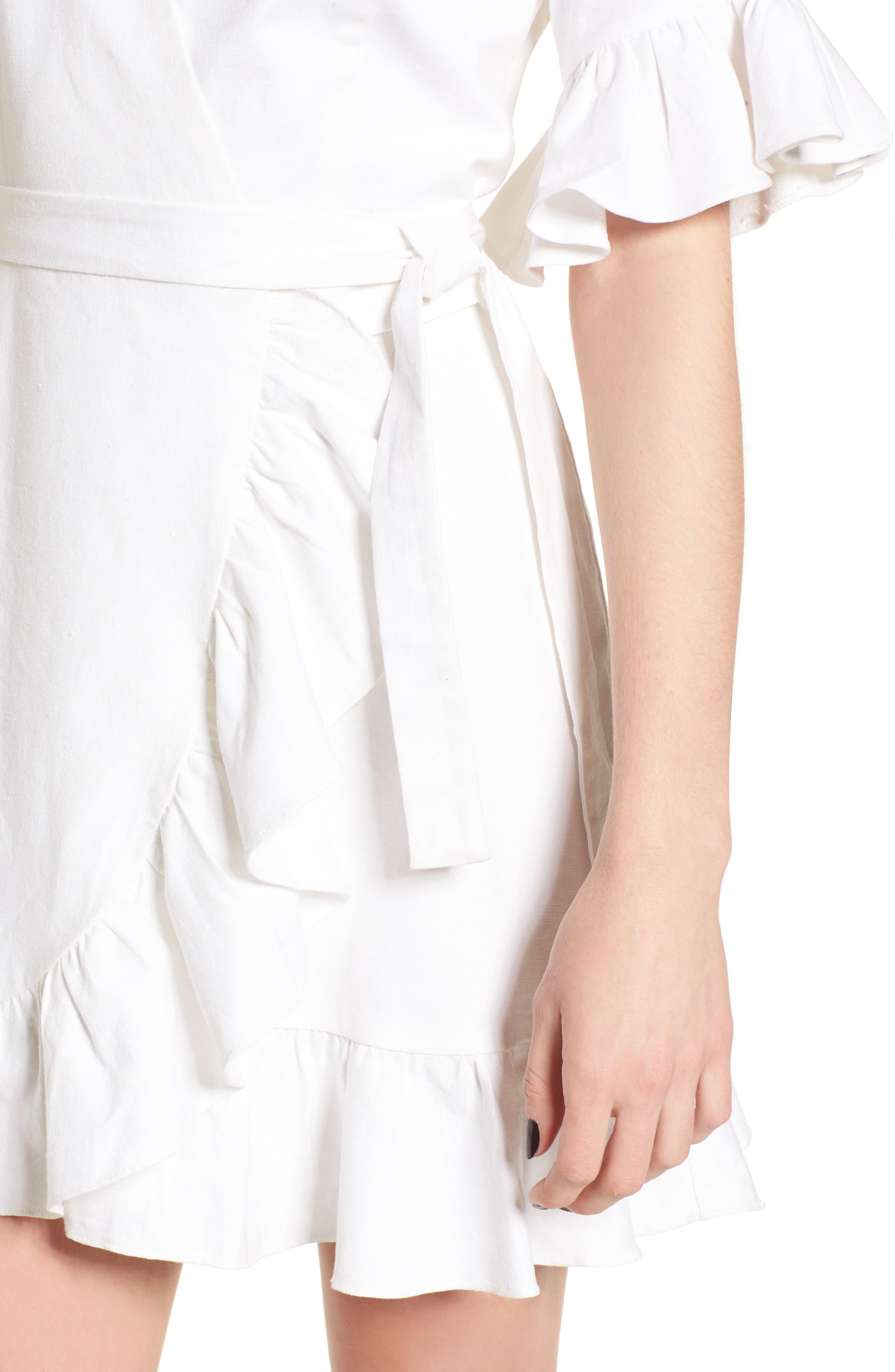 Ruffle Wrap Dress,                             Alternate thumbnail 19, color,