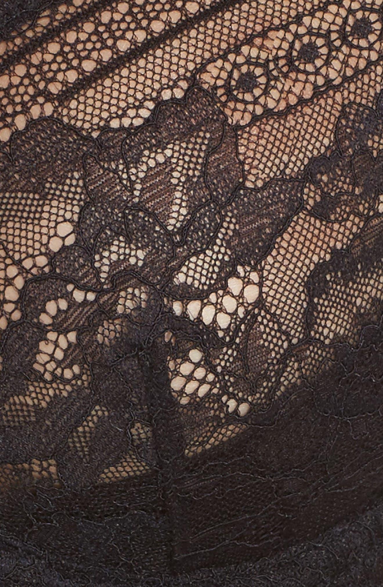 Intimately FP Sorento Longline Underwire Demi Bra,                             Alternate thumbnail 7, color,                             001