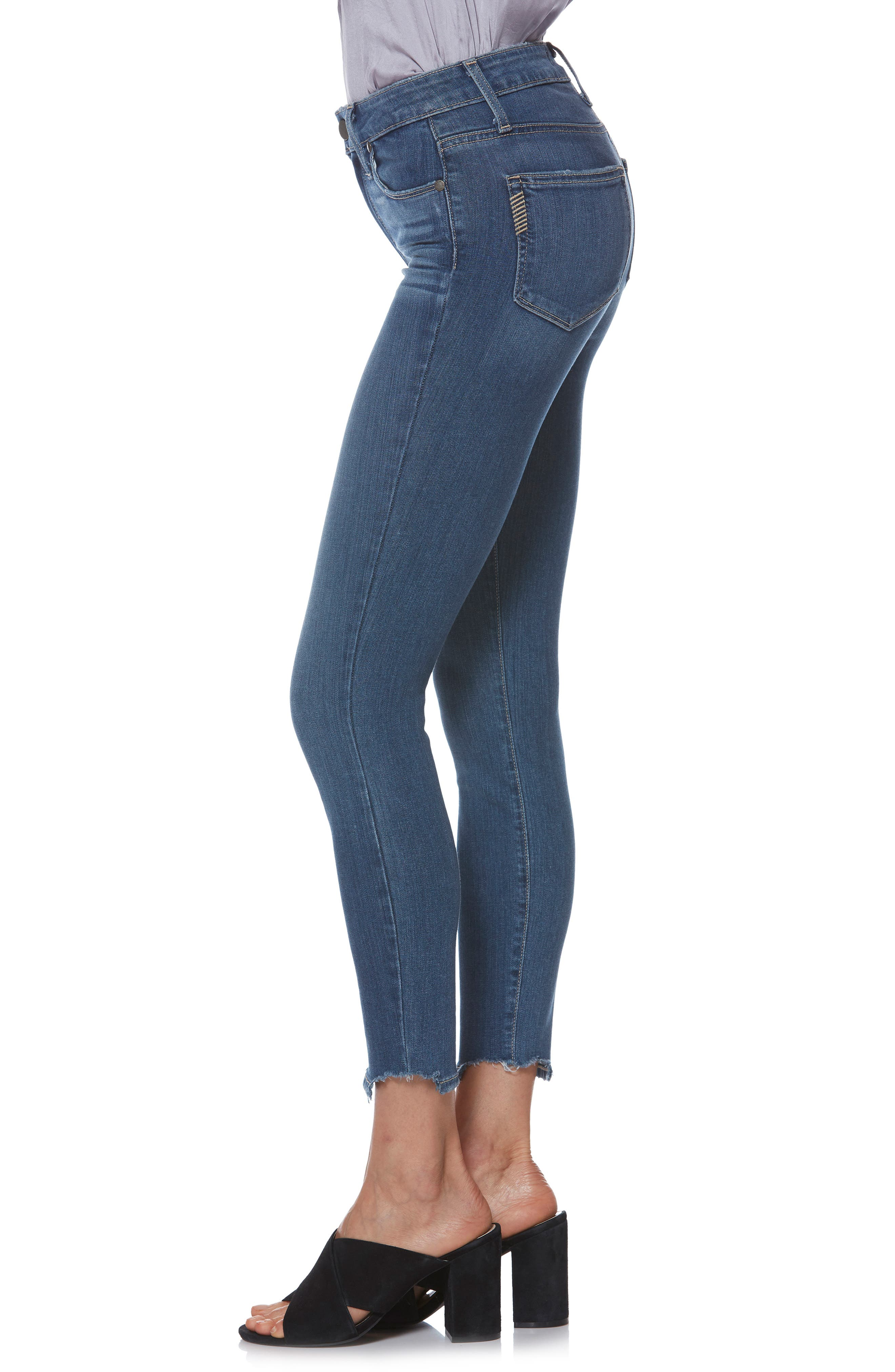 Transcend - Hoxton High Waist Crop Skinny Jeans,                             Alternate thumbnail 3, color,                             400