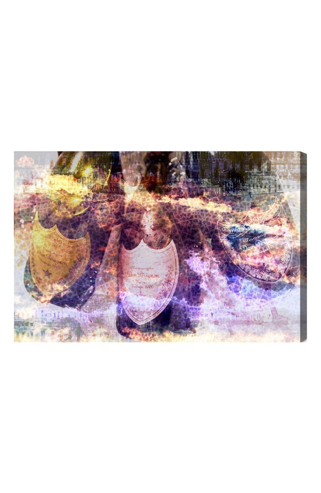 'Champagne Bath' Canvas Wall Art,                             Main thumbnail 1, color,                             PURPLE