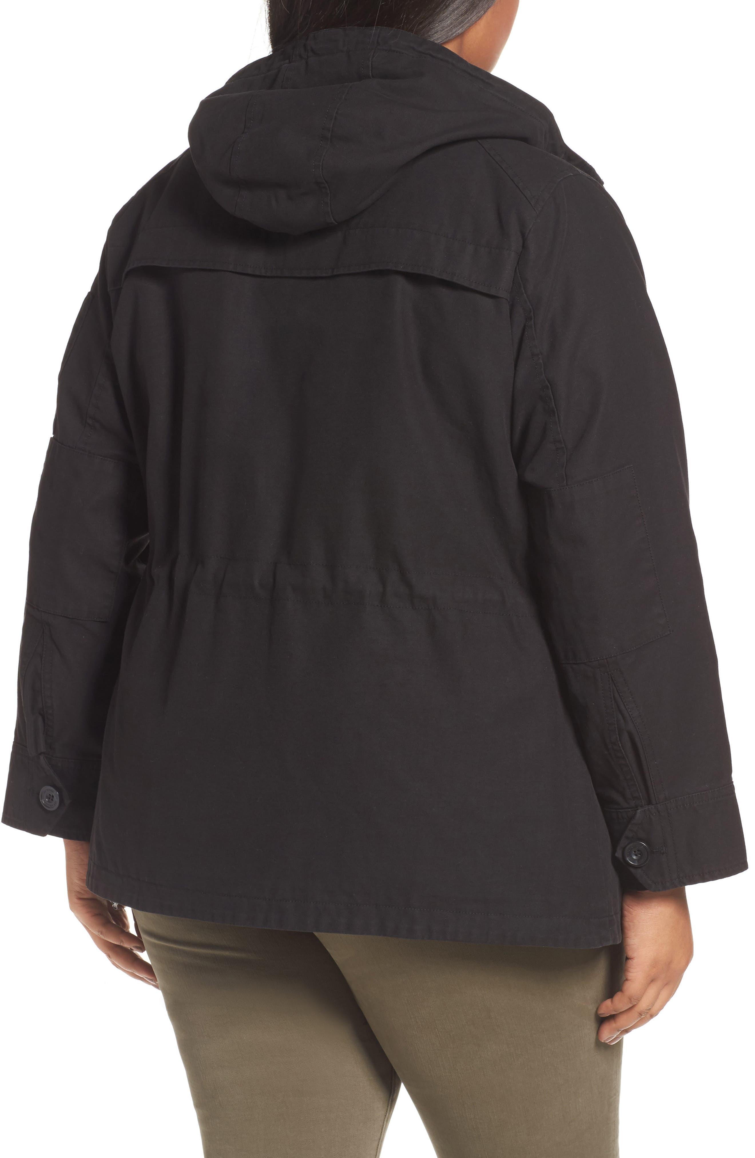 Hooded Cotton Utility Jacket,                             Alternate thumbnail 4, color,