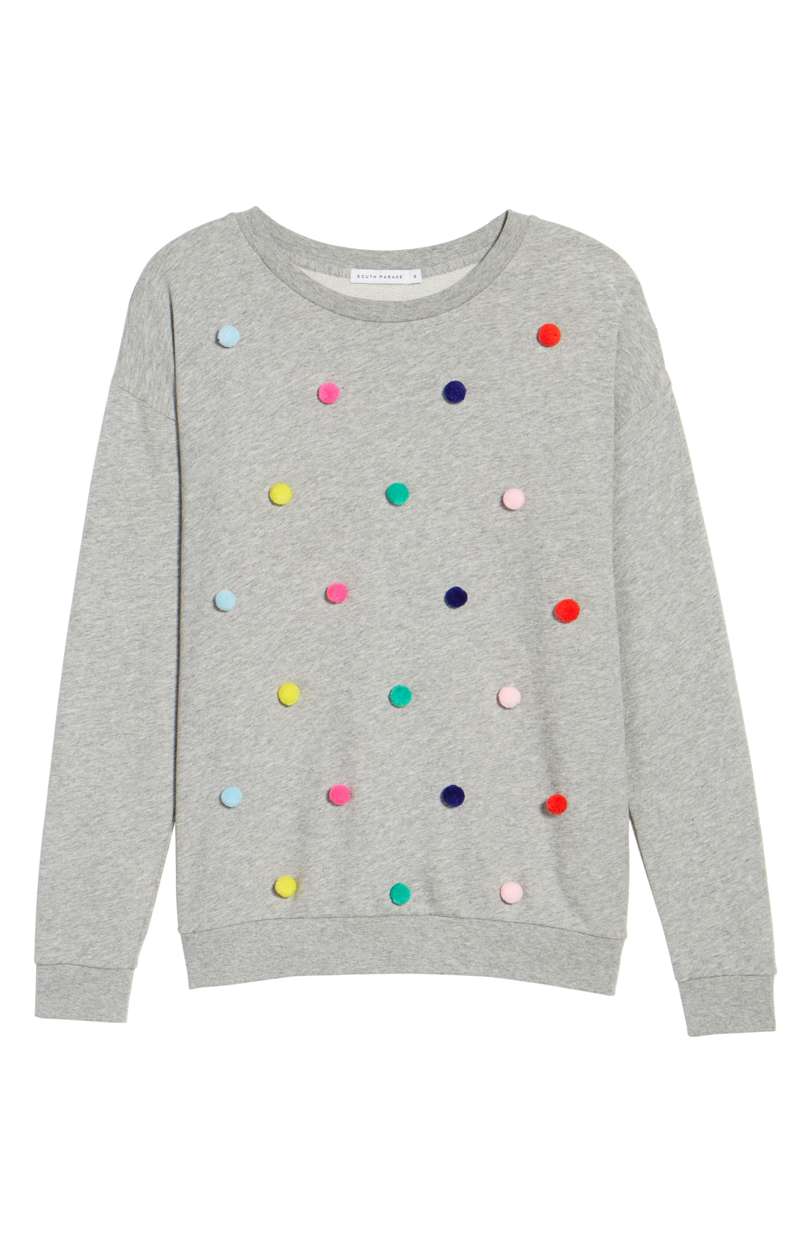 Pompom Sweatshirt,                             Alternate thumbnail 6, color,                             020