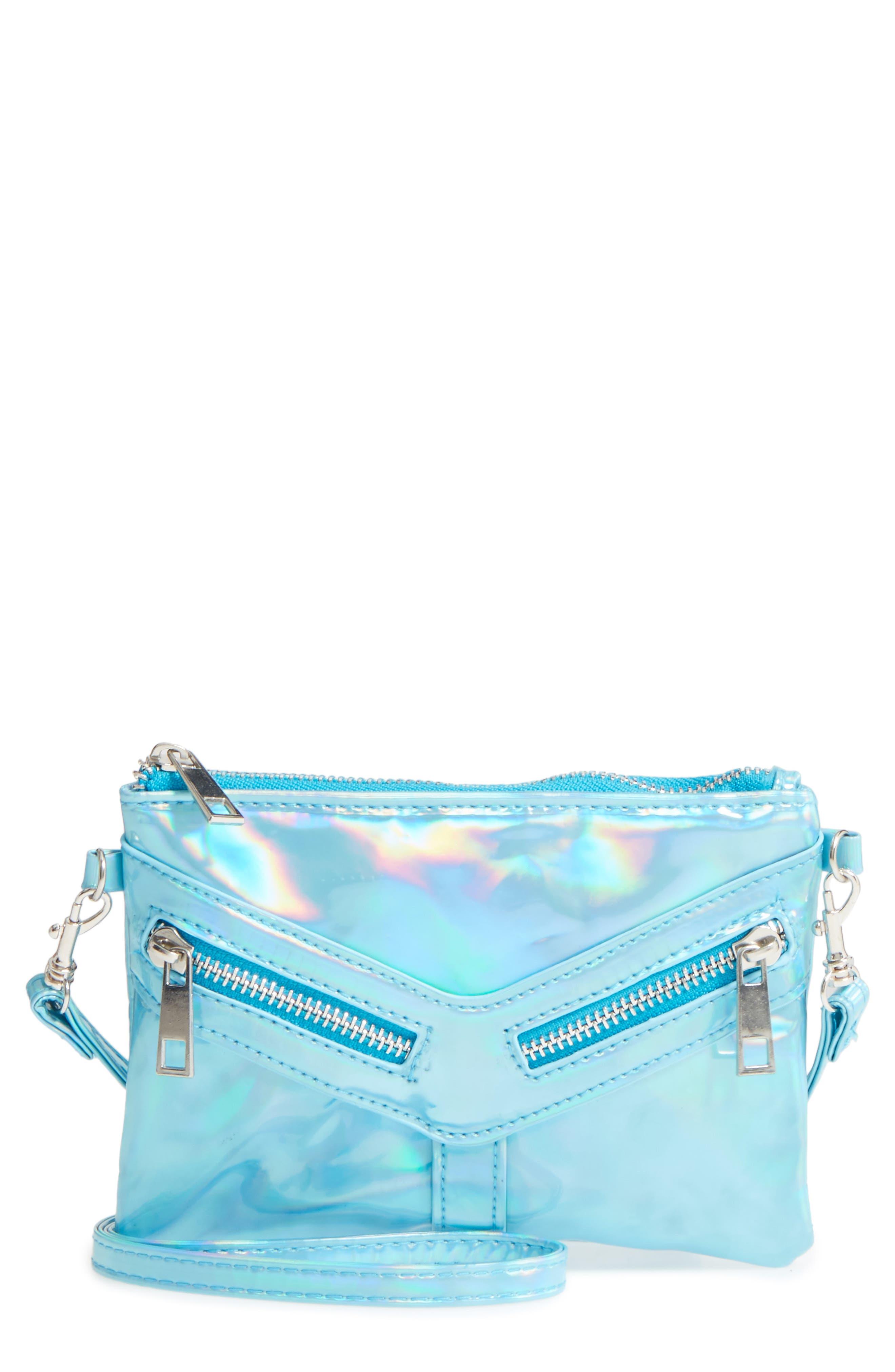 Capelli of New York Hologram Crossbody Bag,                             Main thumbnail 1, color,                             401