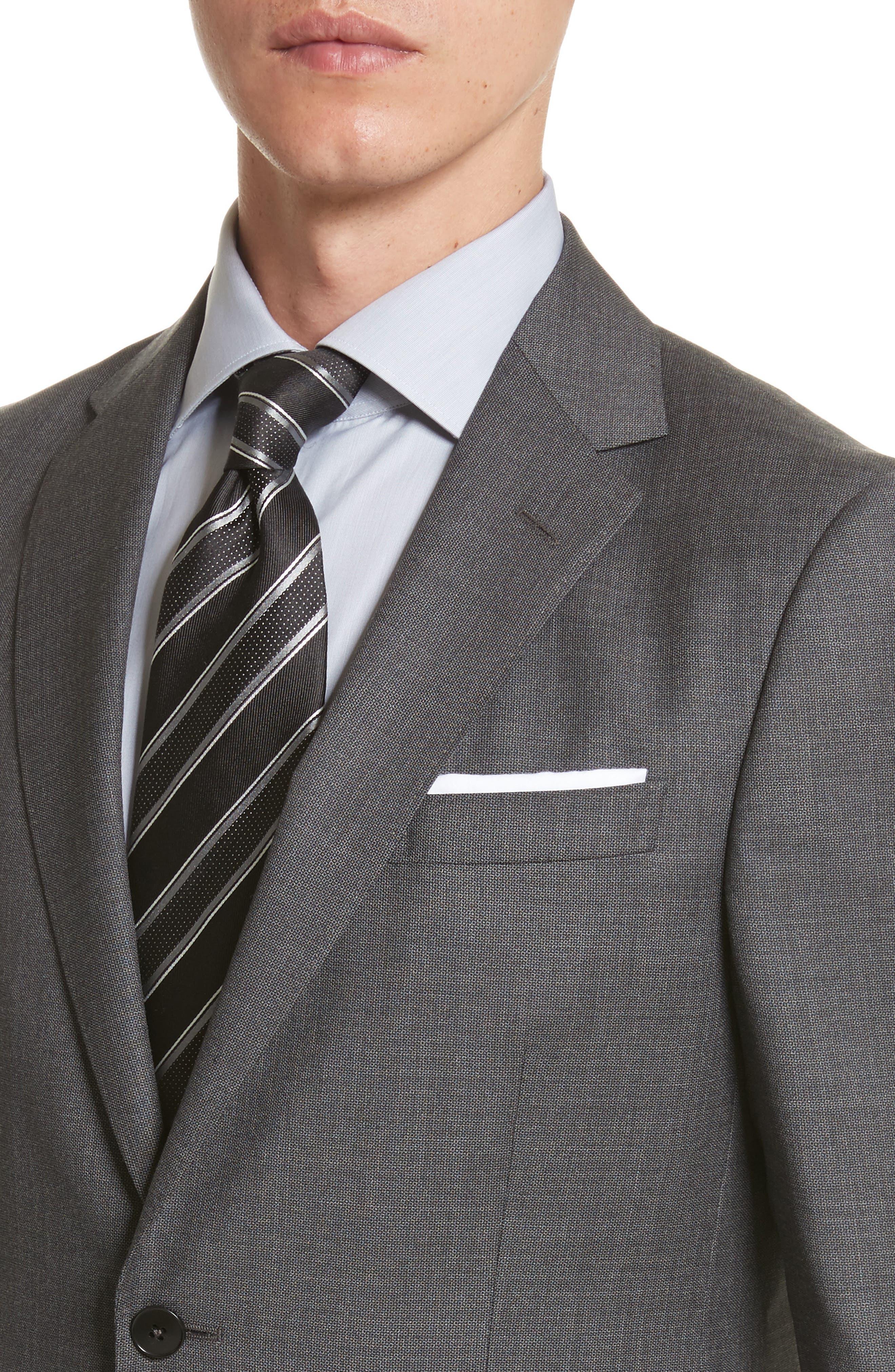 Z ZEGNA,                             Classic Fit Wool Suit,                             Alternate thumbnail 4, color,                             022