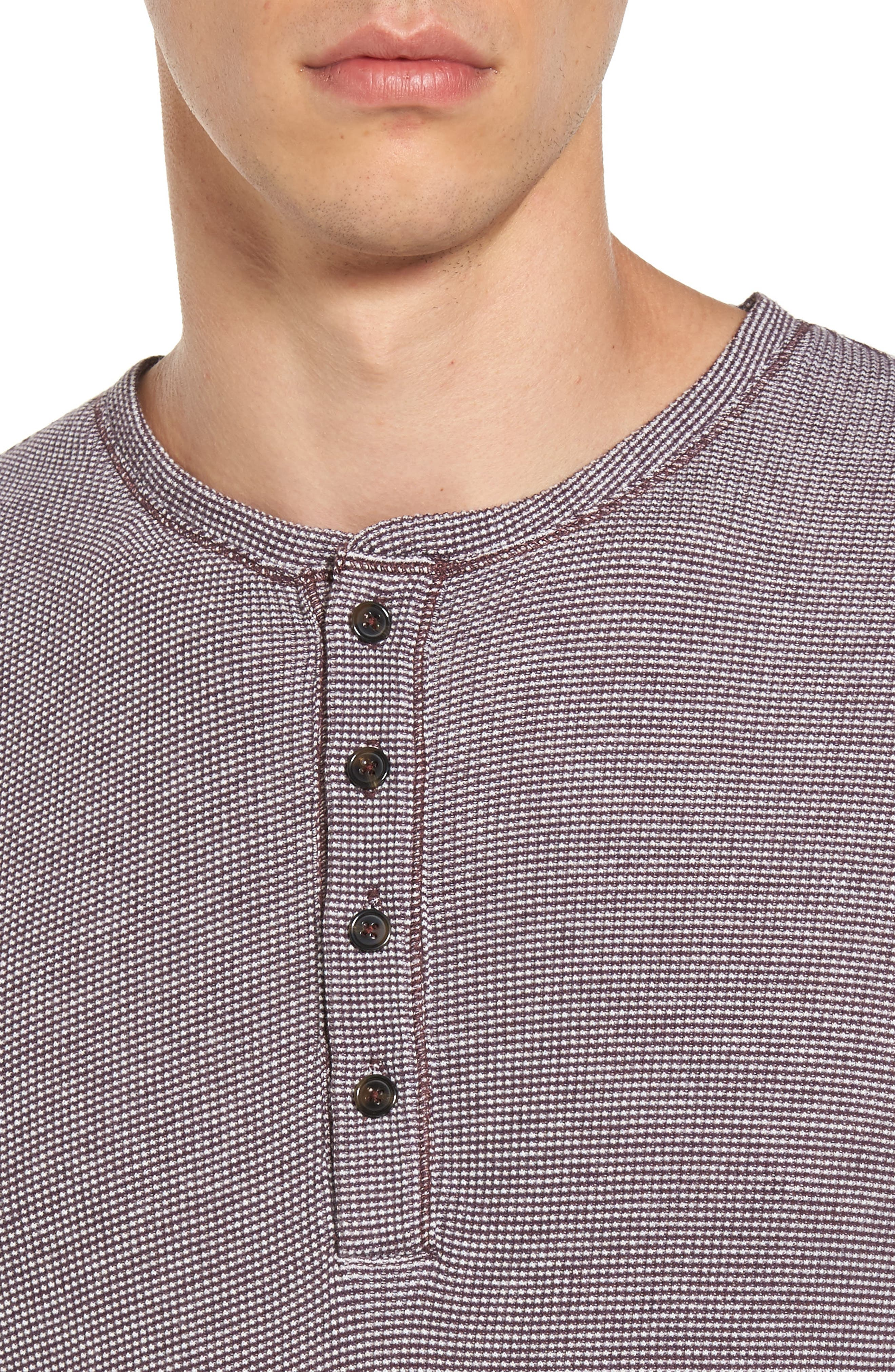 Waffle Knit Henley,                             Alternate thumbnail 8, color,