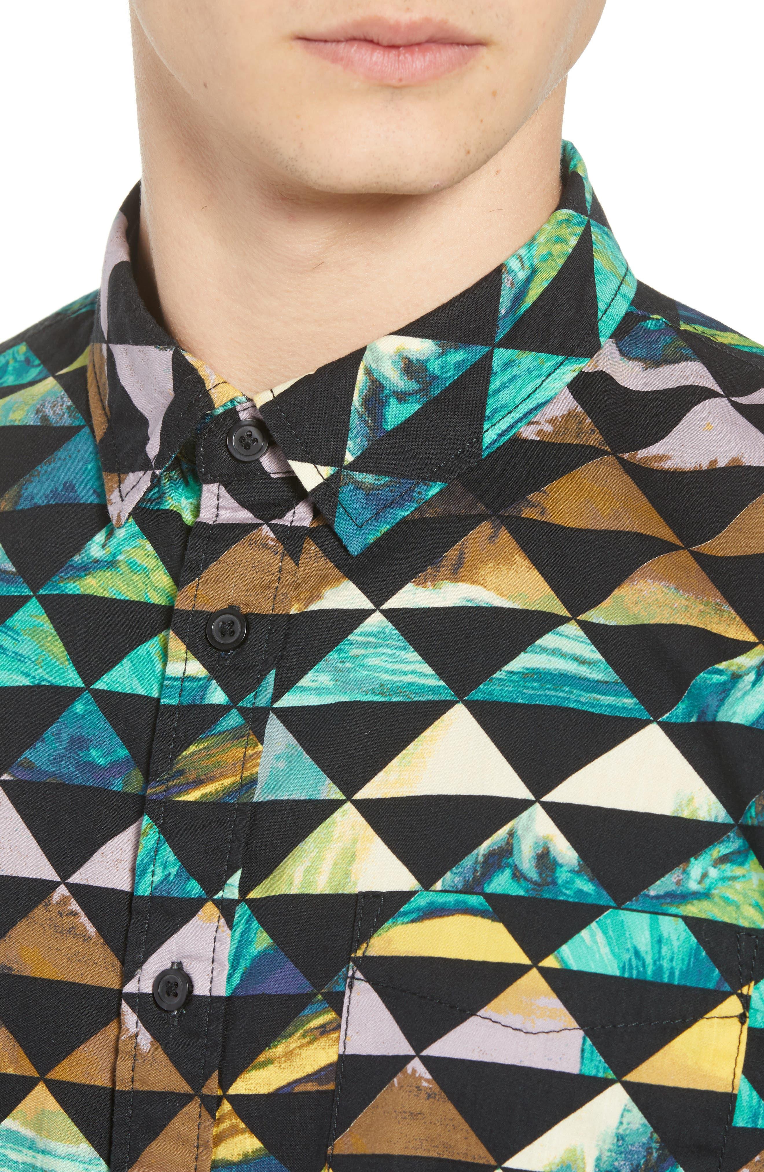 2018 VTCS Aloha Print Woven Shirt,                             Alternate thumbnail 4, color,                             001